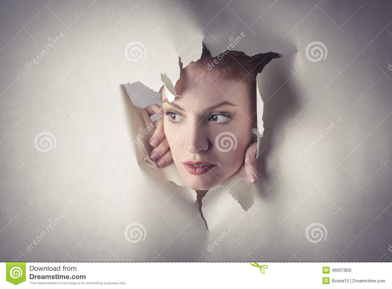 woman popping out nowhere stock photos royalty free pictures