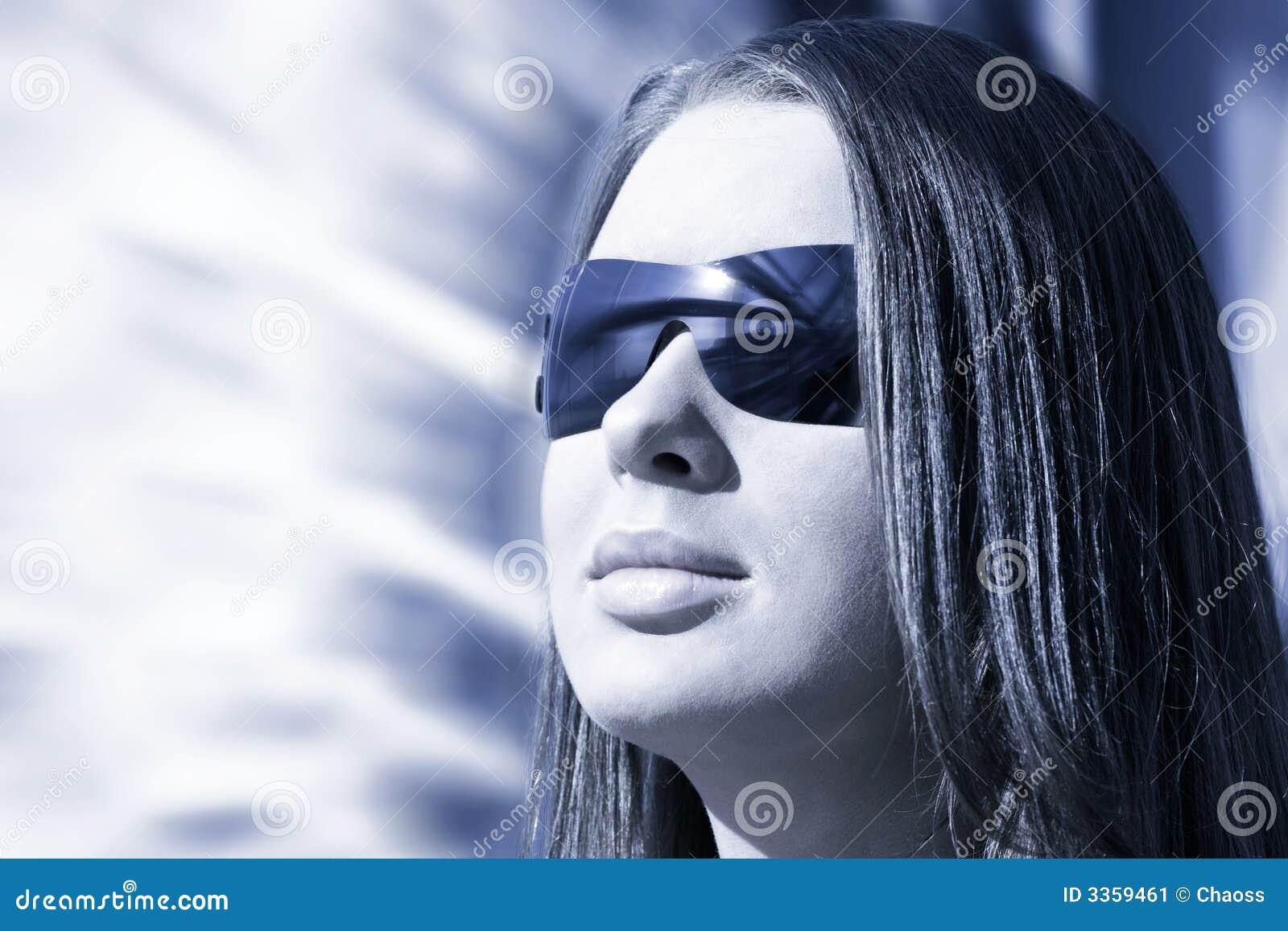 Woman Portrait Hi Tech Style Stock Image Image 3359461