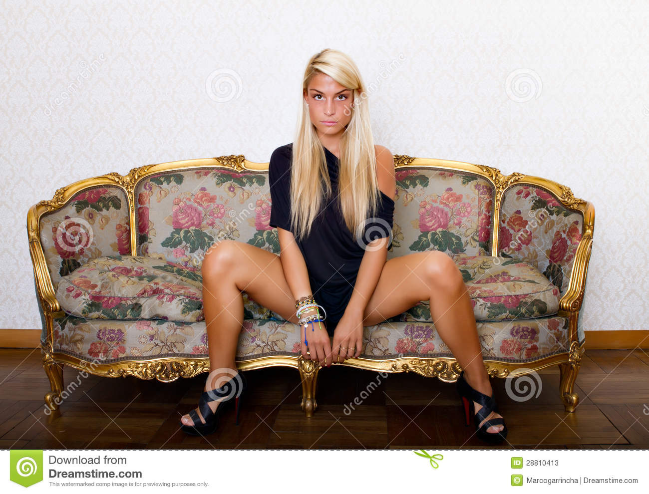Woman Posing With Open Legs Stock Photos Image 28810413