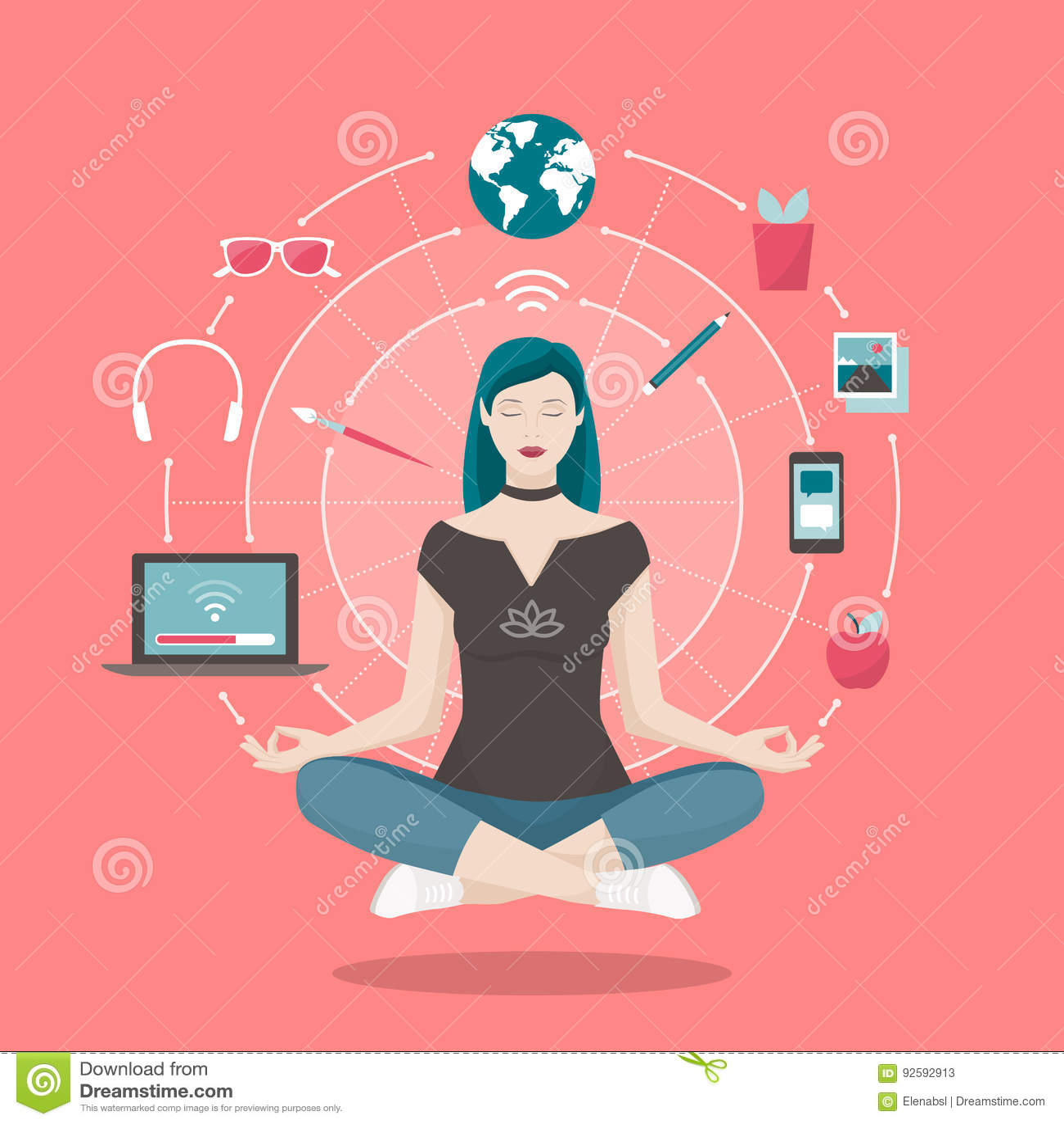 mindfulness cartoons  illustrations  u0026 vector stock images