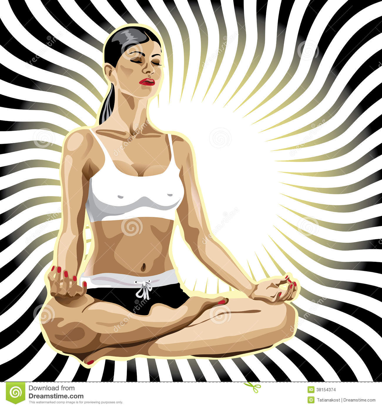 Woman Practicing Yoga Lotus Pose Royalty-Free Stock Photo ...