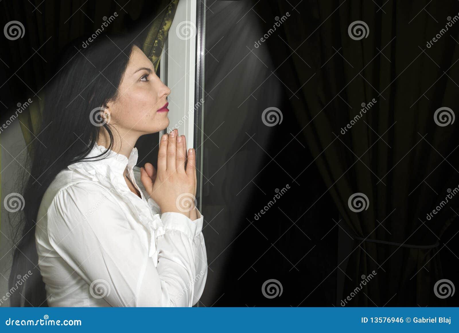 Woman prayer with faith
