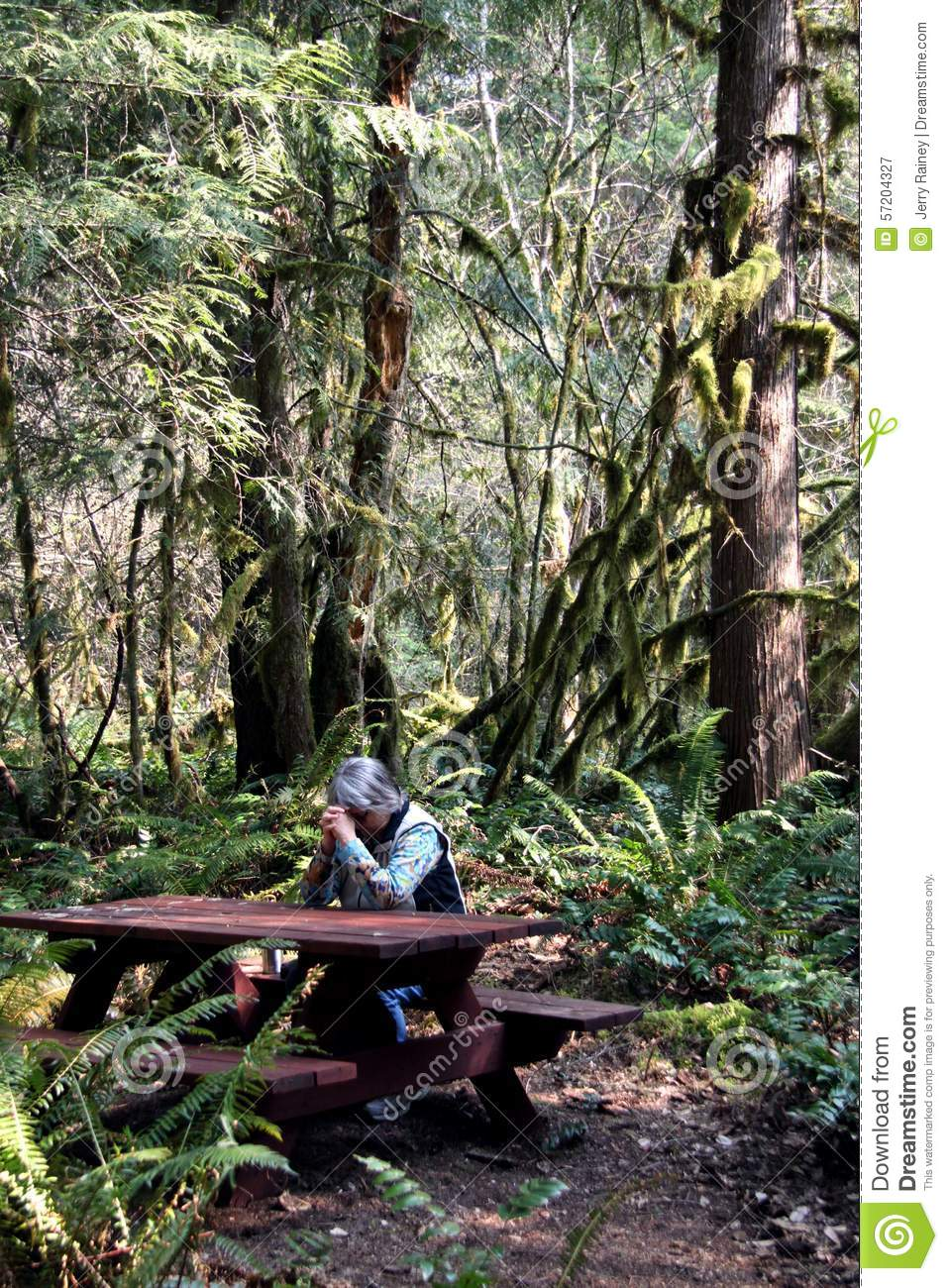 Woman Praying At A Table Editorial Photography Image Of Walkway