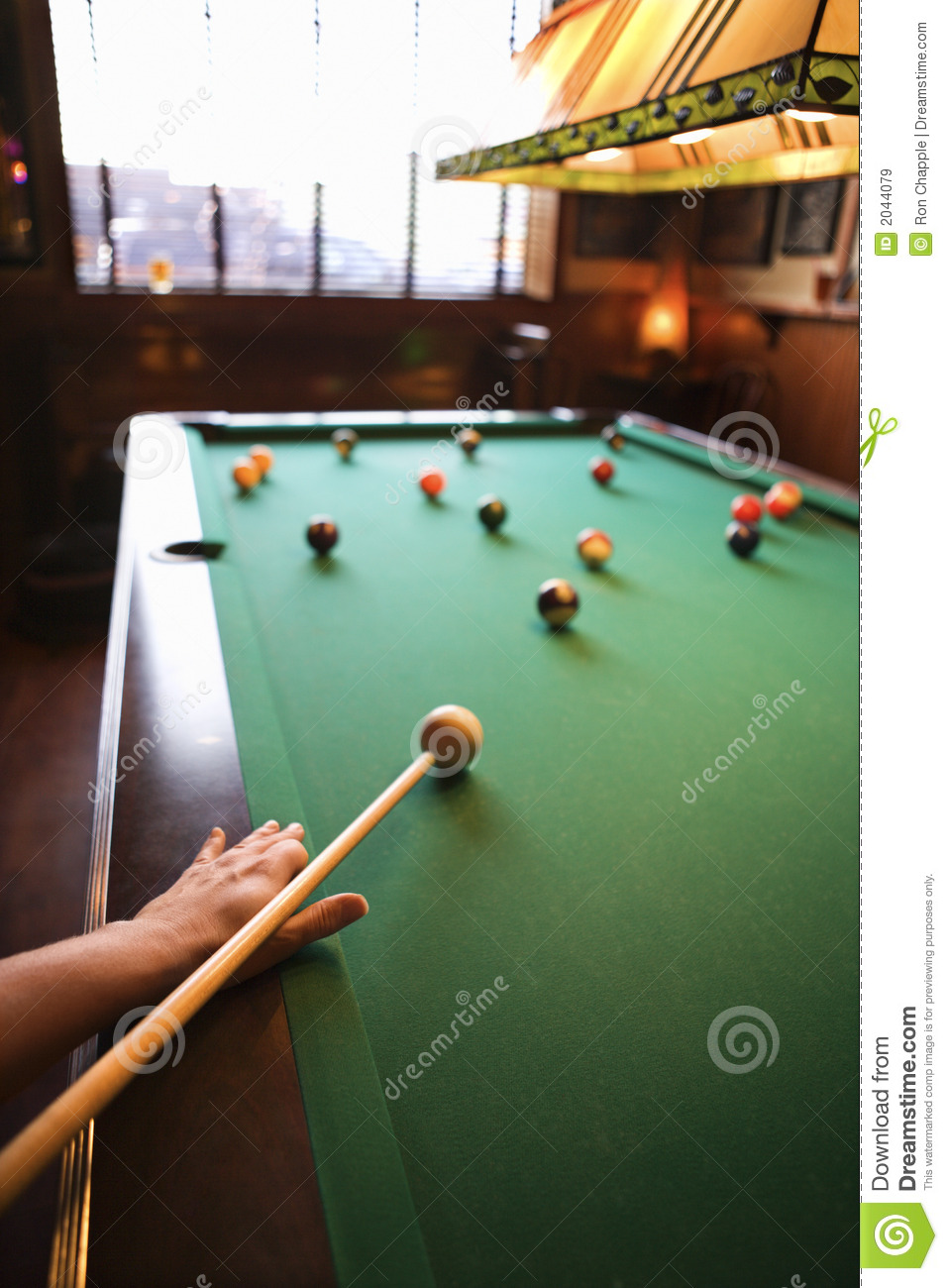 Woman Preparing To Hit Pool Ball. Stock Image - Image of shooting ... bec21d26a2