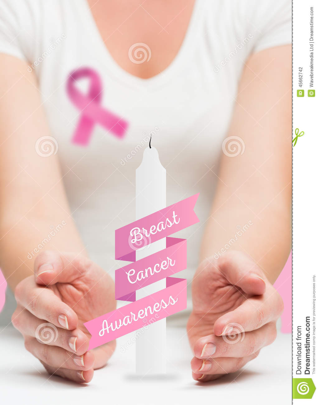 woman presenting breast cancer awareness message stock cancer awareness clip art free cancer awareness clipart