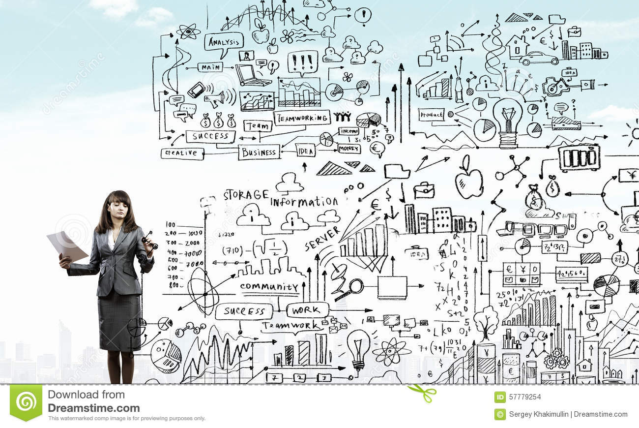 download woman presenting business plan stock photo image of drawing smiling 57779254