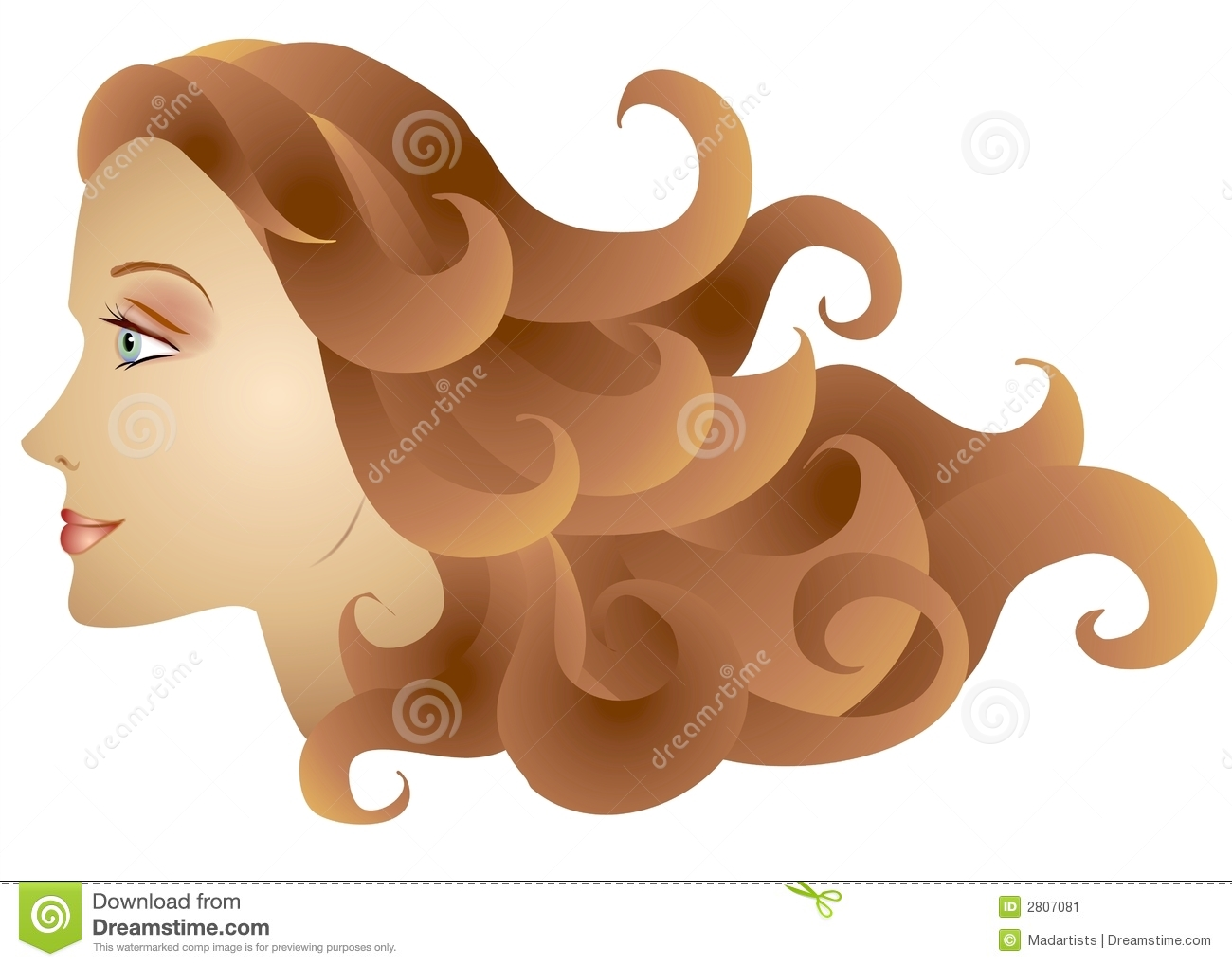 clip art curly hair girl - photo #38