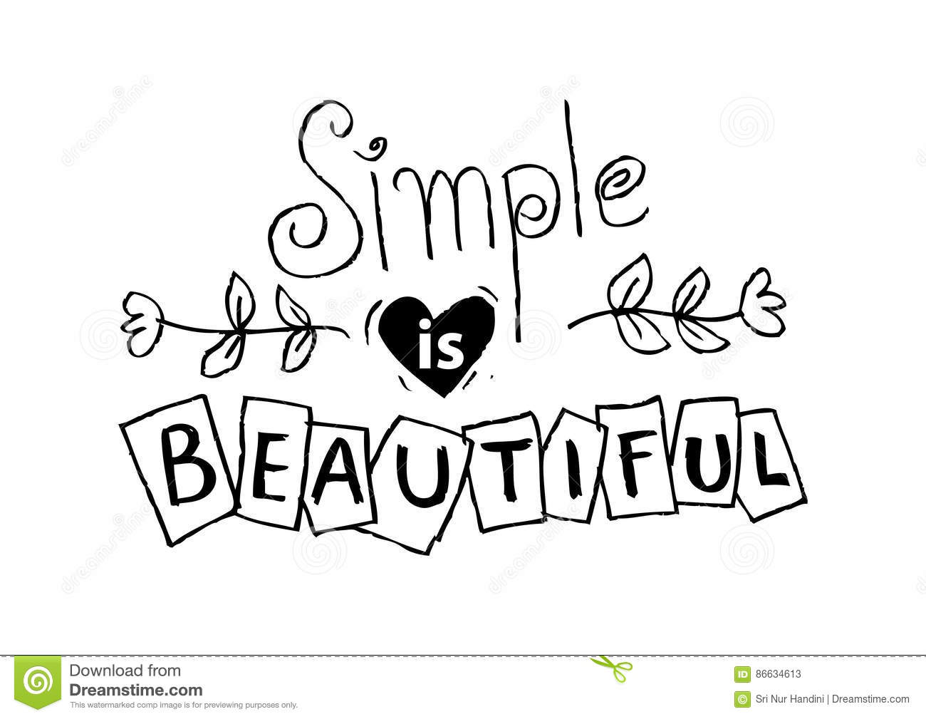 Woman Quote. Simple Is Beautiful. Stock Illustration ...