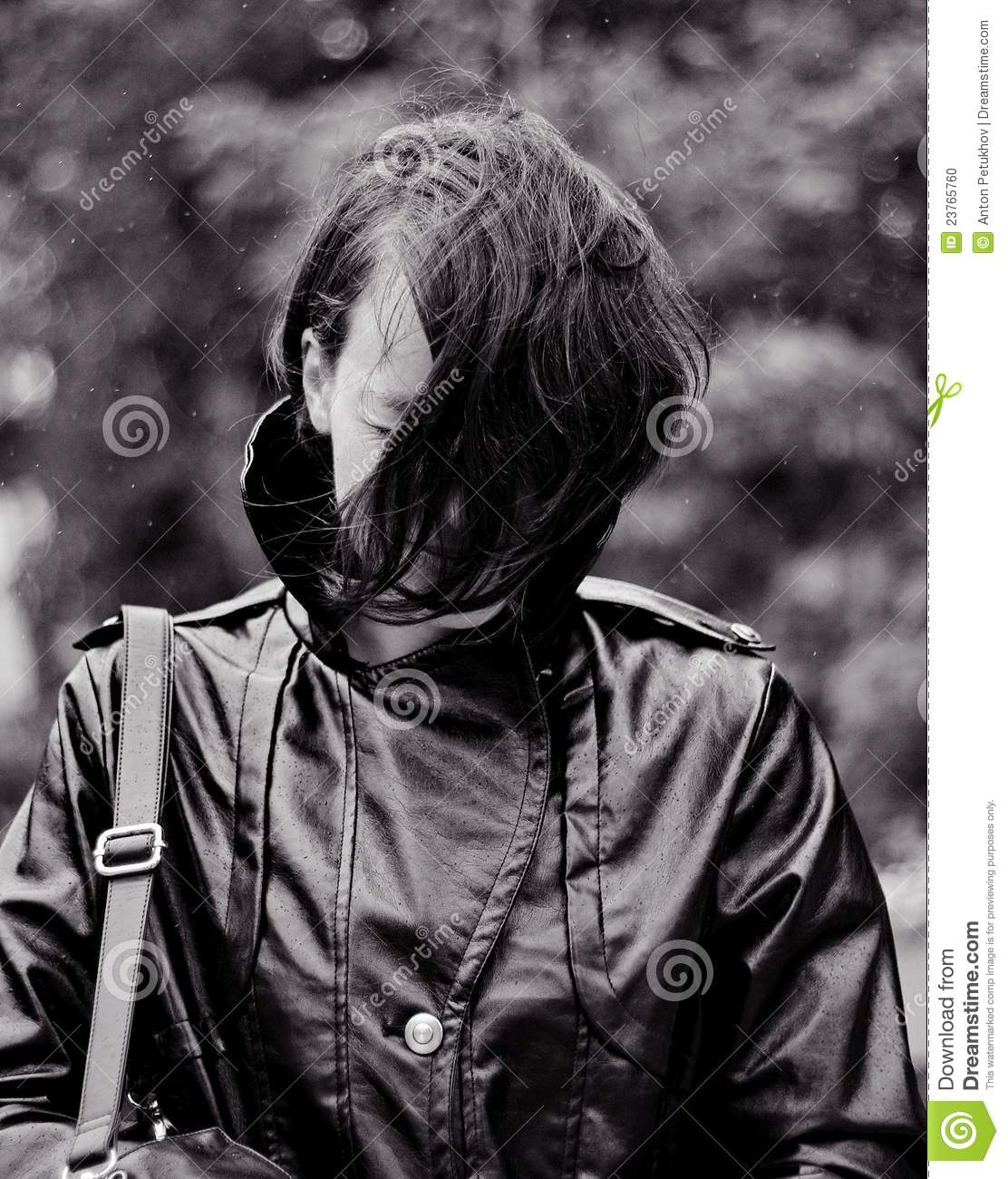 Woman In Raincoat Stock Photo Image 23765760