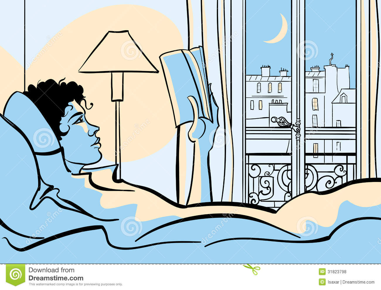 Woman Reading In Bed Royalty Free Stock Photos - Image: 31823798