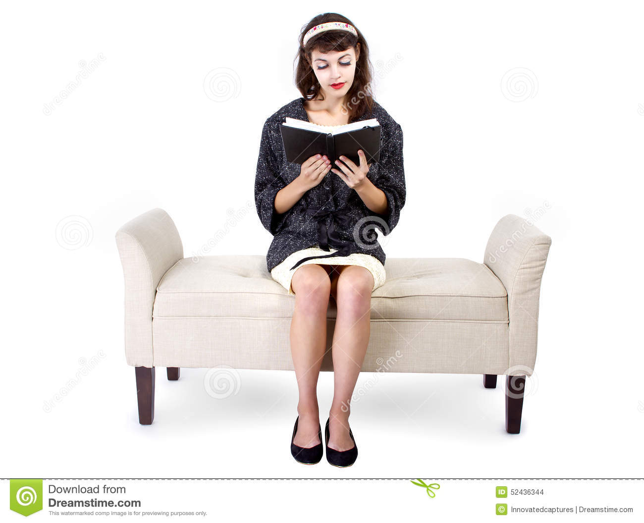 Woman Reading a Book on a Chaise Lounge