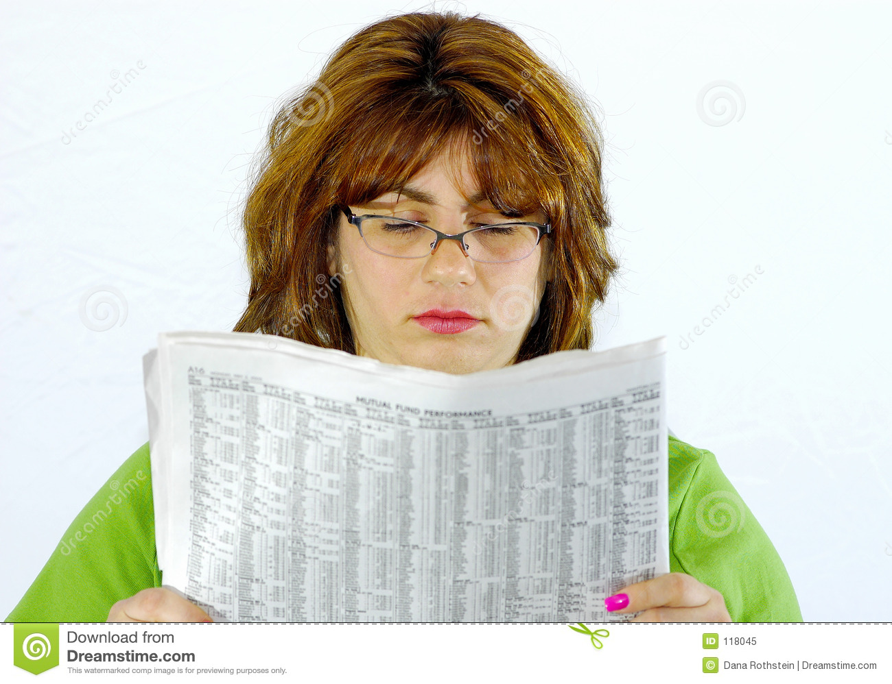 Woman Reading Newspaper Royalty Free Stock Photo - Image ...