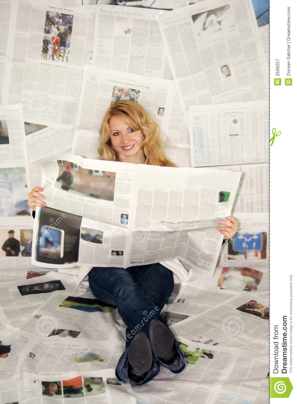 Woman Reading Newspaper Royalty Free Stock Photography ...