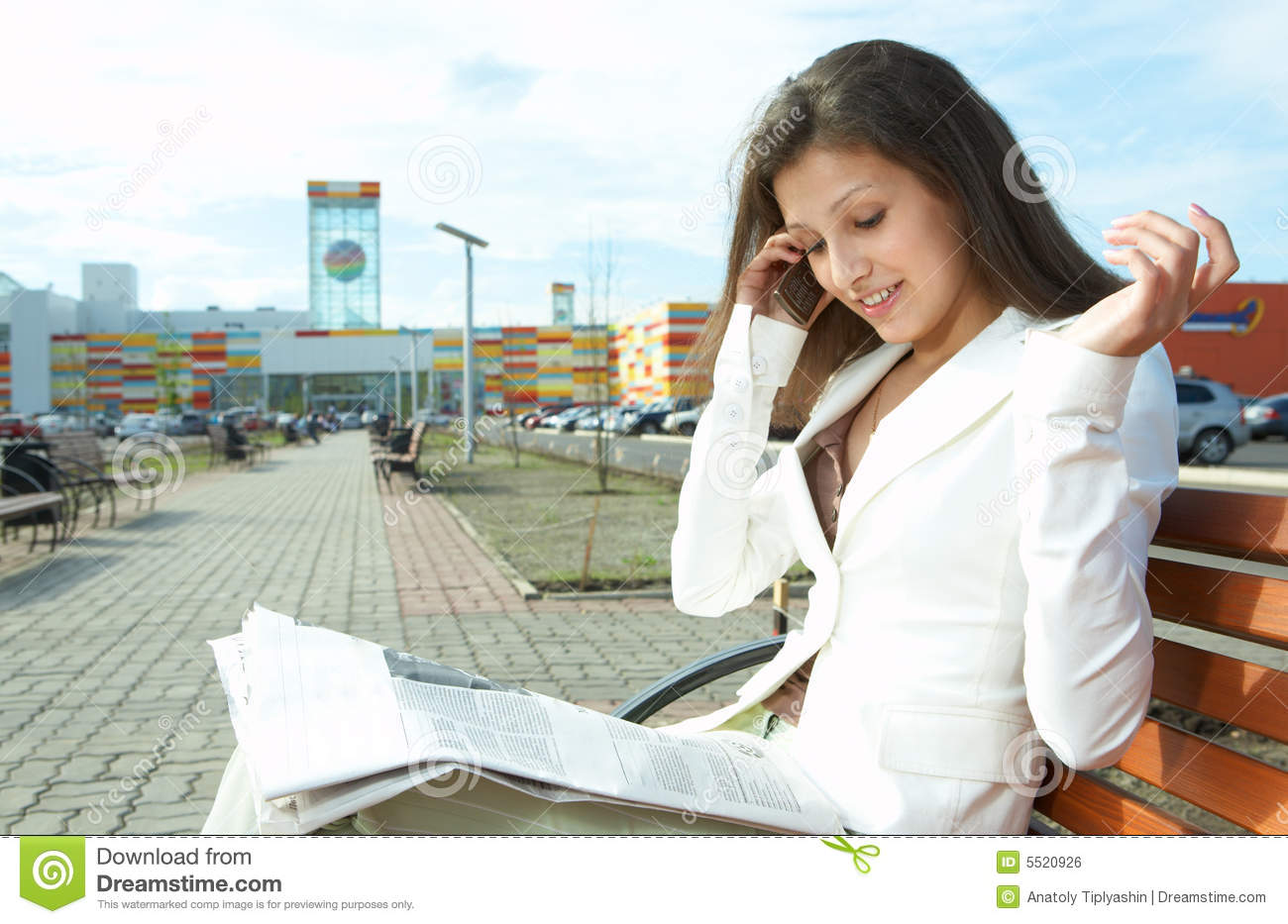 Woman Reading The Newspaper Royalty Free Stock Image - Image: 5520926