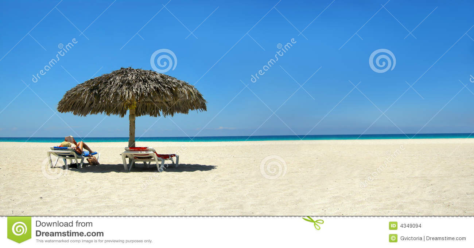 Download Woman reading panorama stock photo. Image of getaway, palms - 4349094
