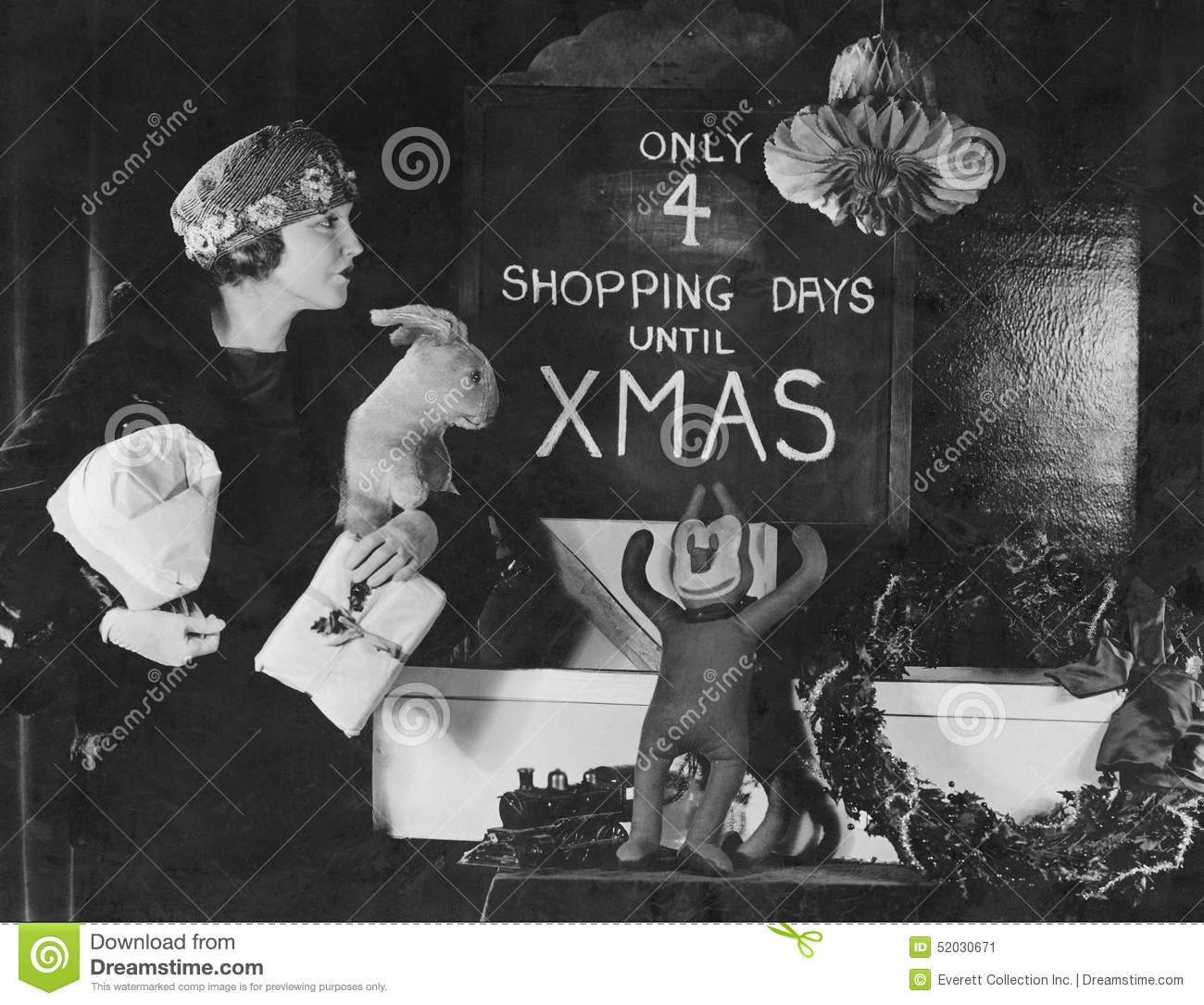 woman reading sign with number of shopping days until christmas all persons depicted are no longer living and no estate exists supplier grants that there - How Much Longer Until Christmas