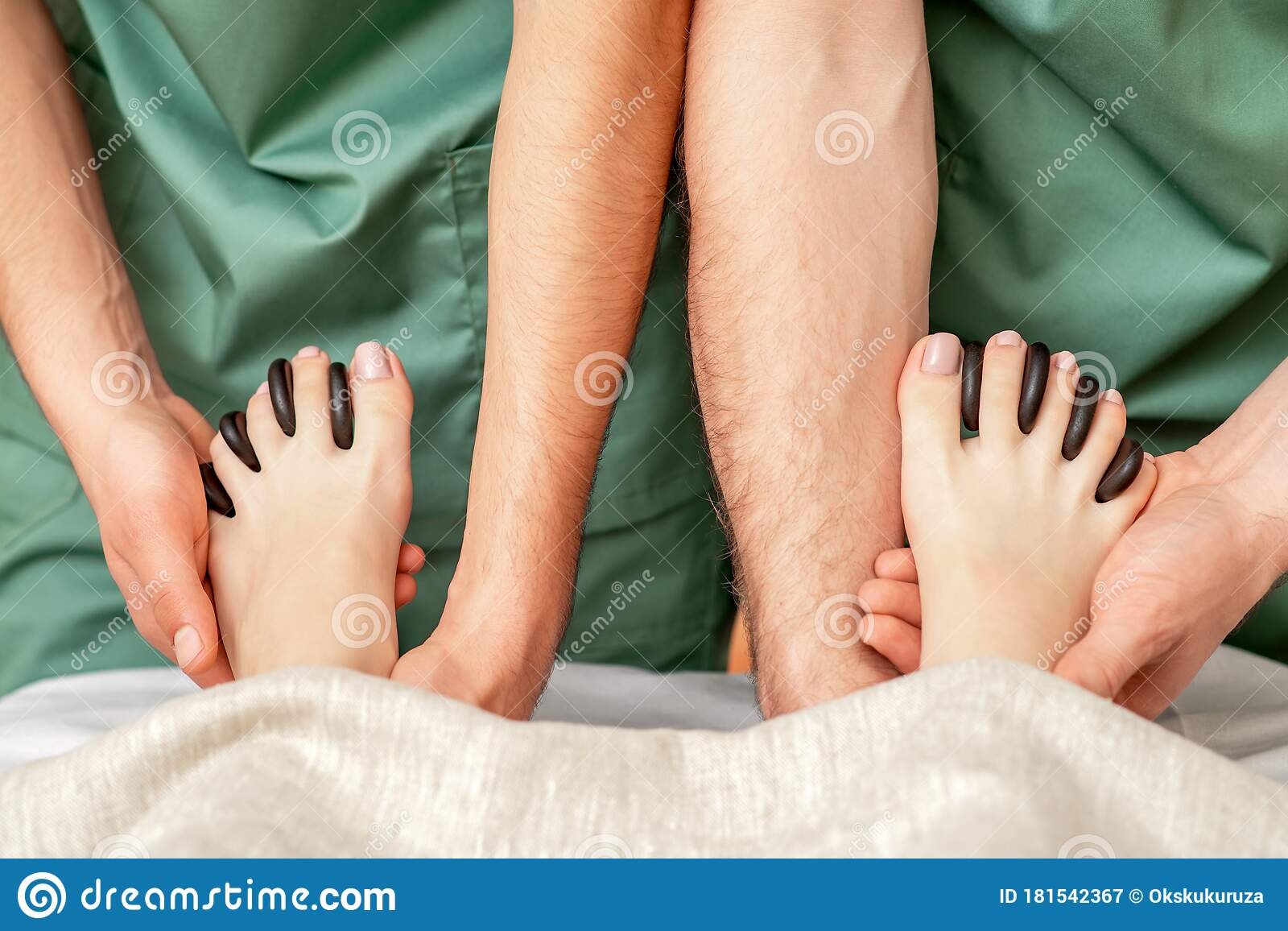 Woman Receiving Hot Stone Massage Stock Image - Image of ...