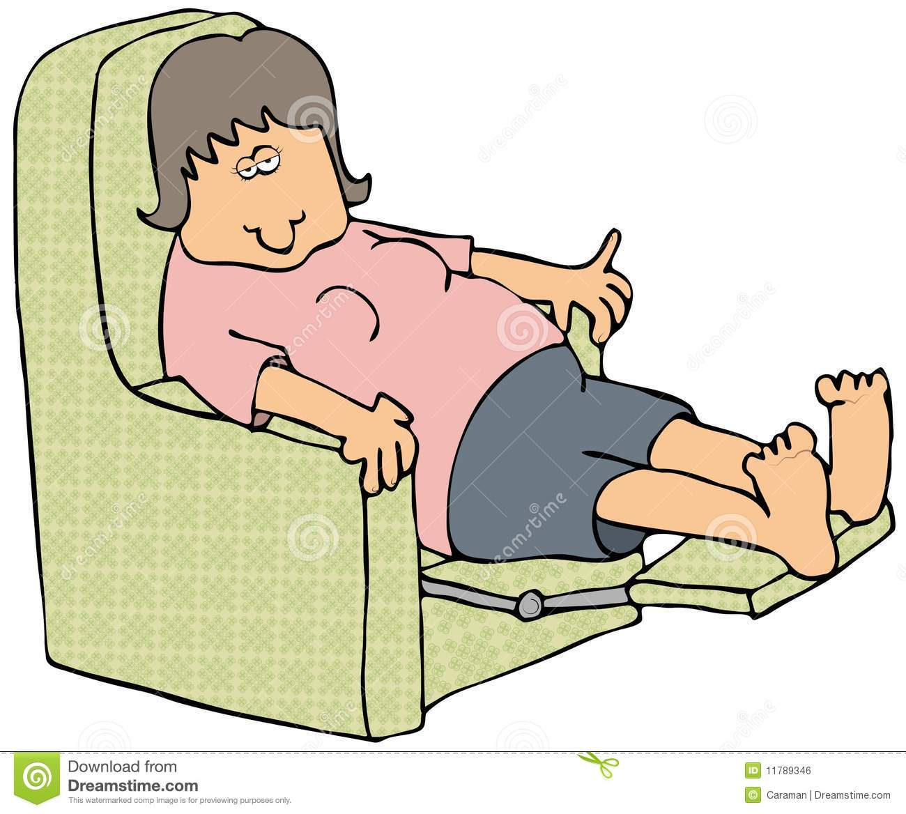 Woman On A Recliner Royalty Free Stock Image Image 11789346 : woman recliner 11789346 from www.dreamstime.com size 1300 x 1168 jpeg 133kB