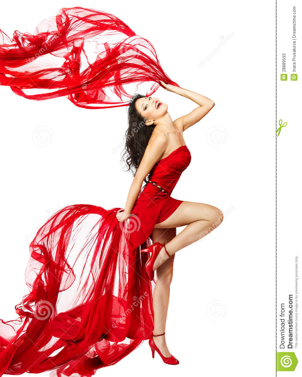 6d7f6a94f994 Woman in red dress dancing stock image. Image of corset - 28889593