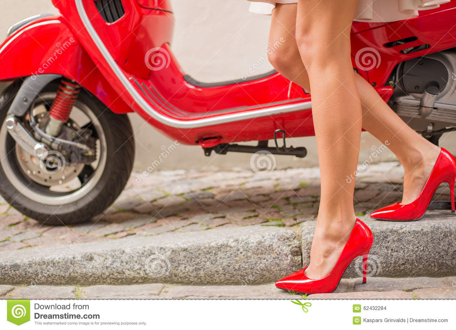 Red Shiny High Heels