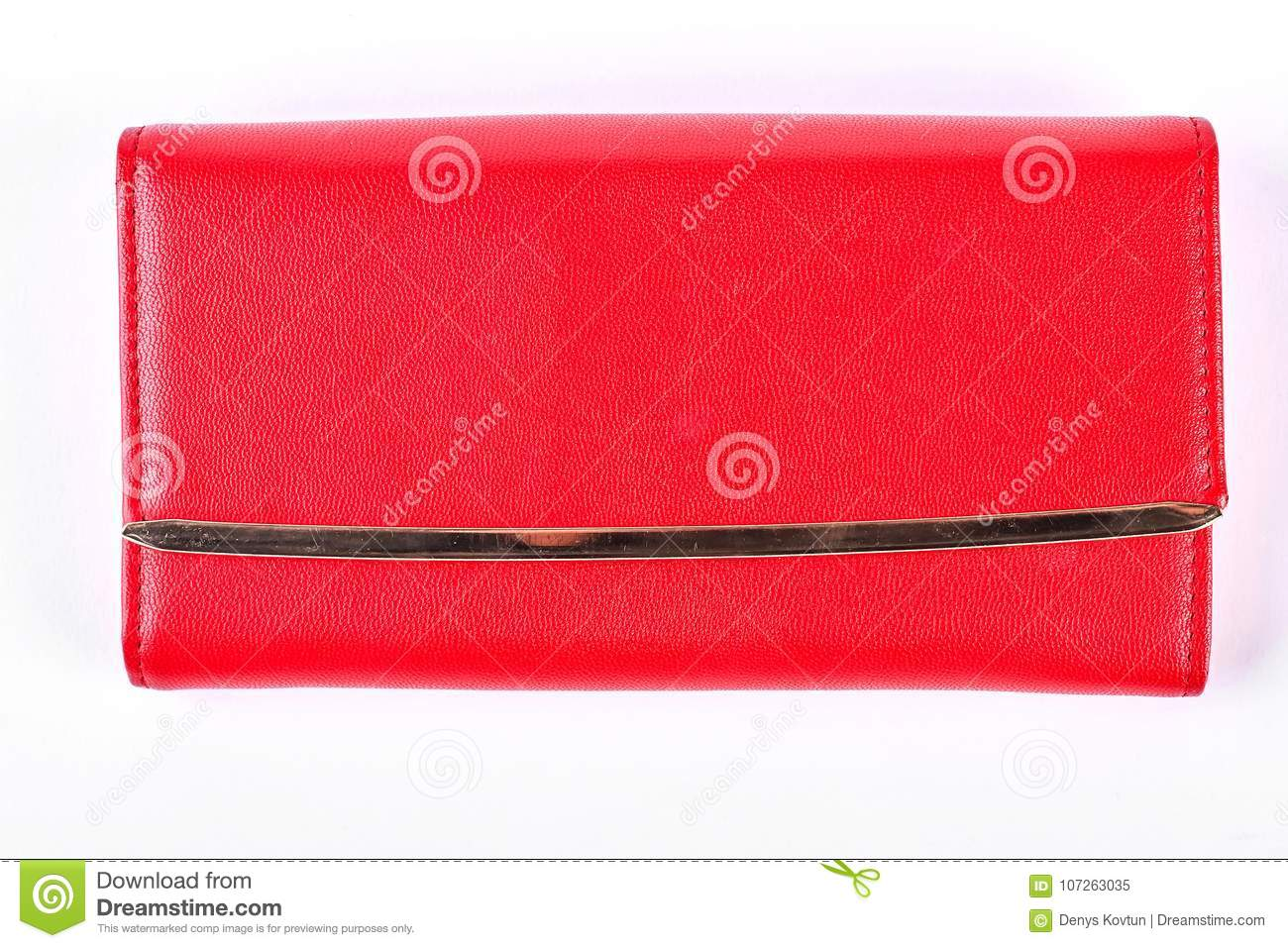 241df89034b41 Woman Red Purse Isolated On White Background. Stock Image - Image of ...