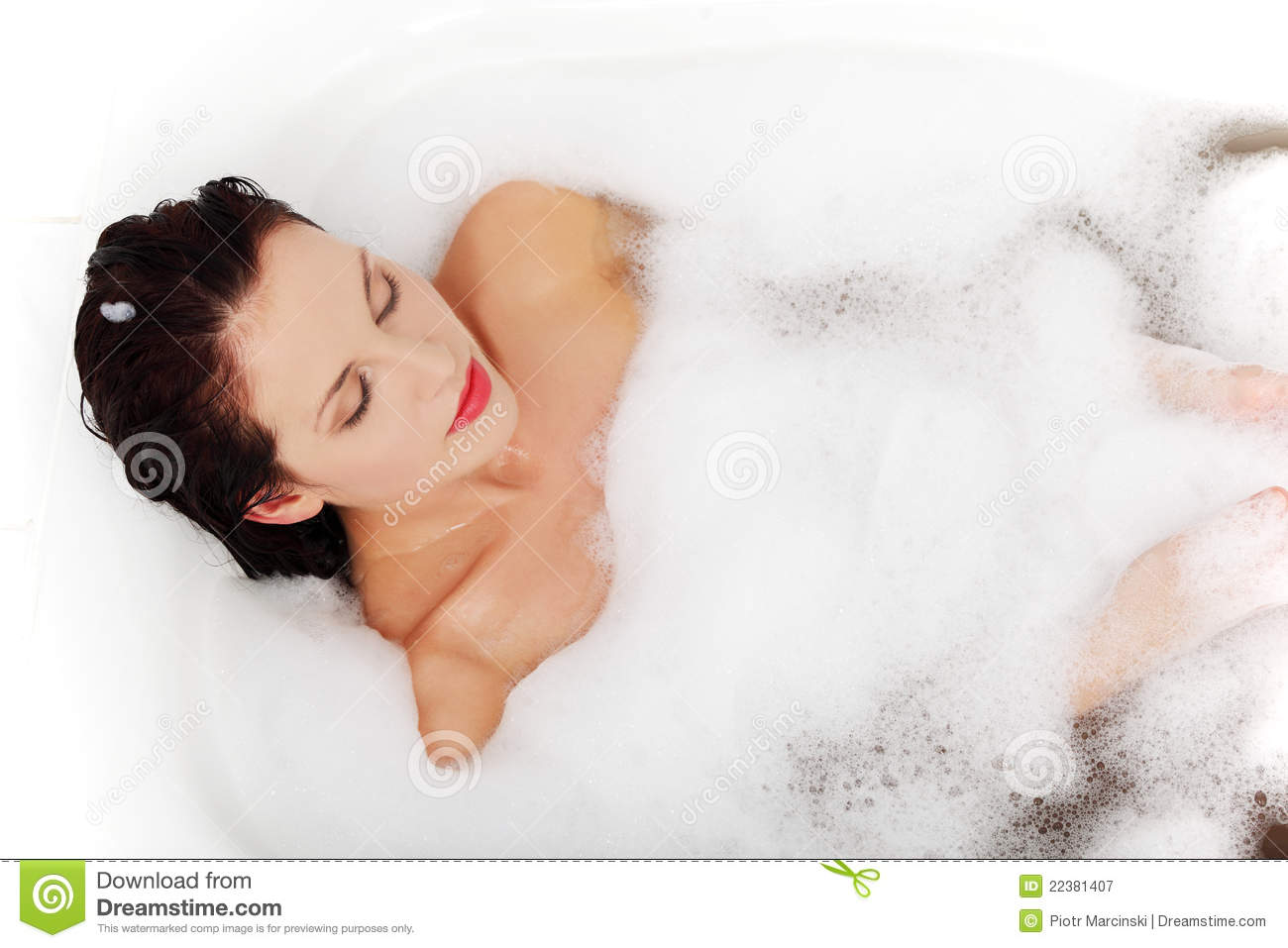 Woman Relaxing During The Bath Royalty Free Stock