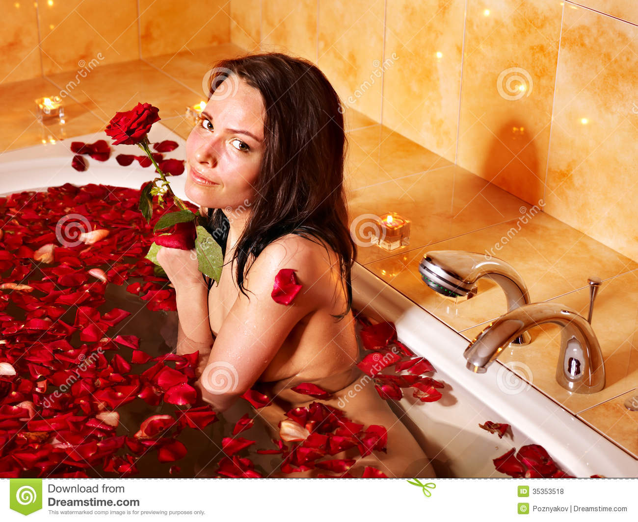 Woman Relaxing In Bath Royalty Free Stock Photos Image