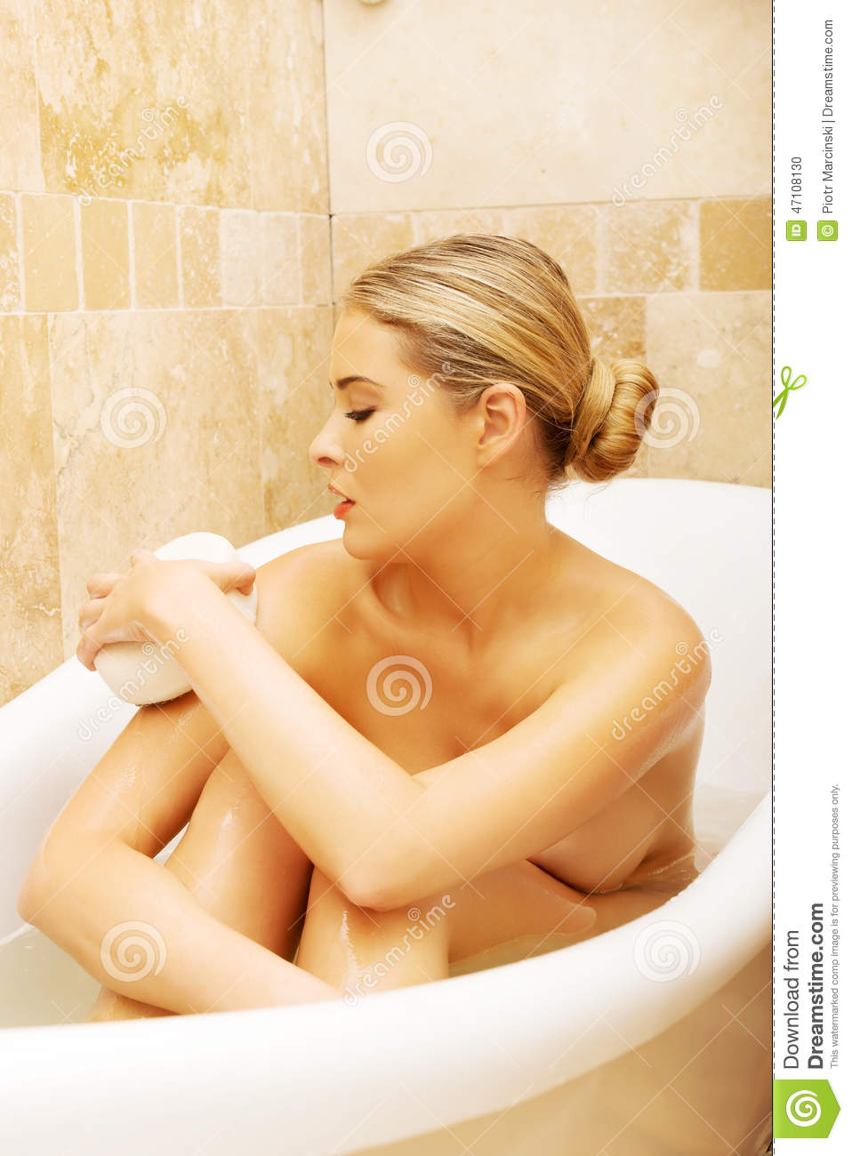 Woman relaxing in a bath stock photo. Image of beautycare ...
