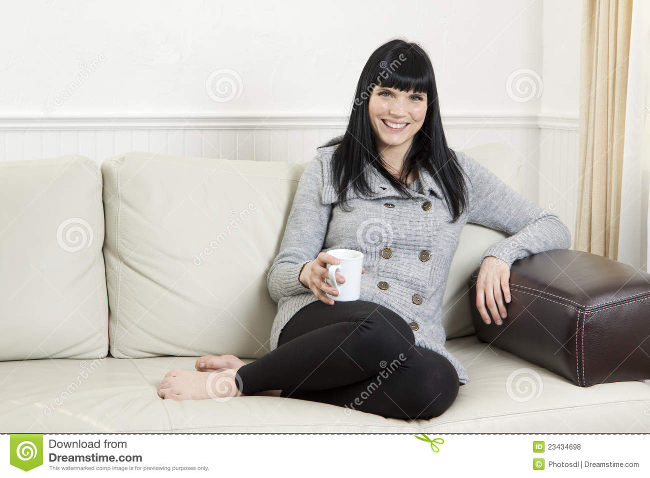 woman relaxing at home royalty free stock photos image. Black Bedroom Furniture Sets. Home Design Ideas