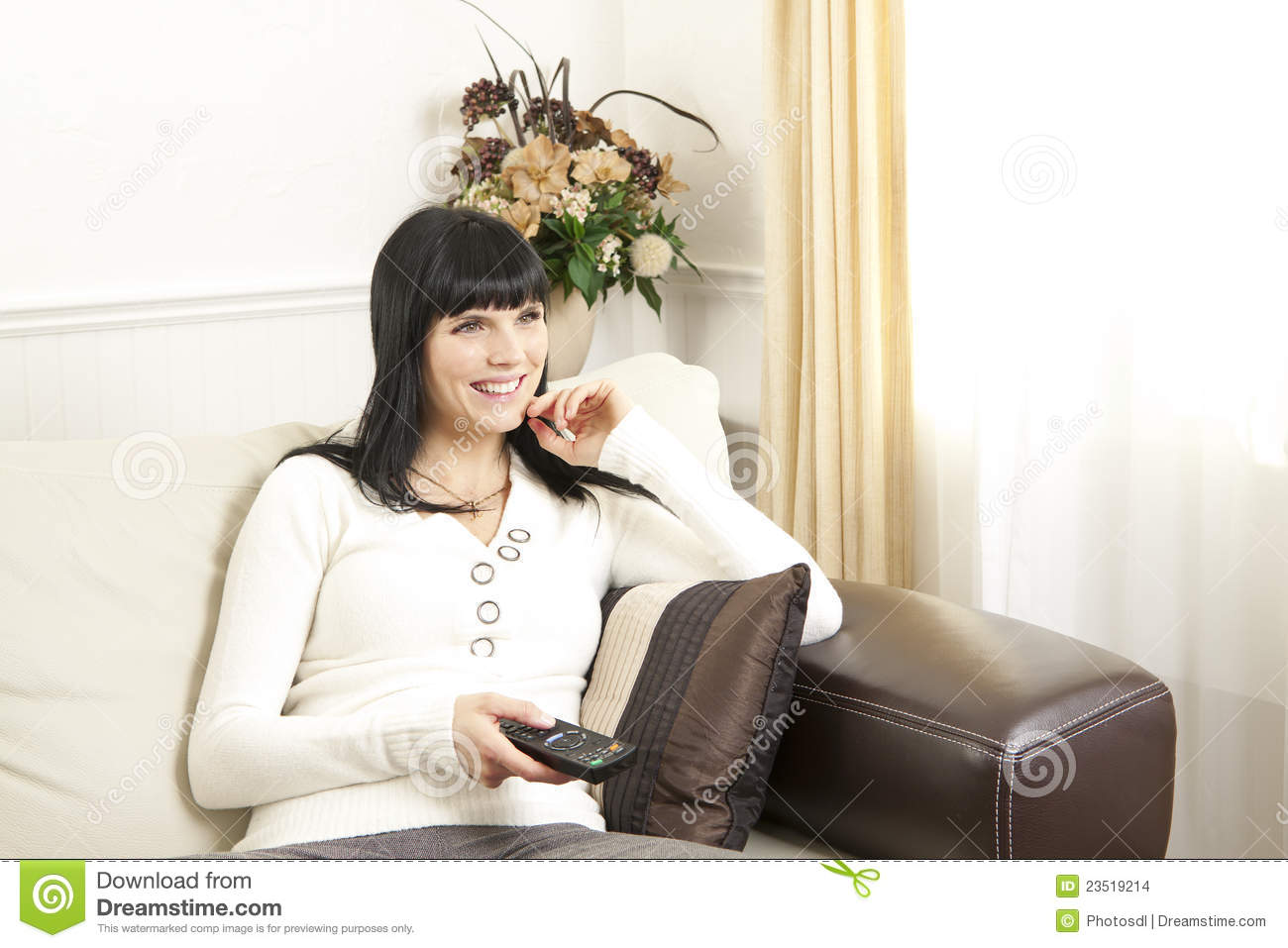 Woman Relaxing At Home Stock Images Image 23519214