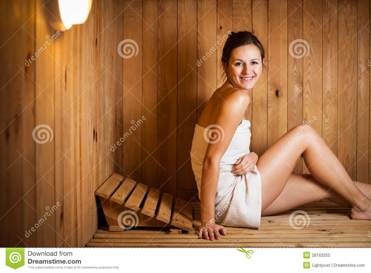 United Baggage Prices Woman Relaxing In A Sauna Royalty Free Stock Photo Image