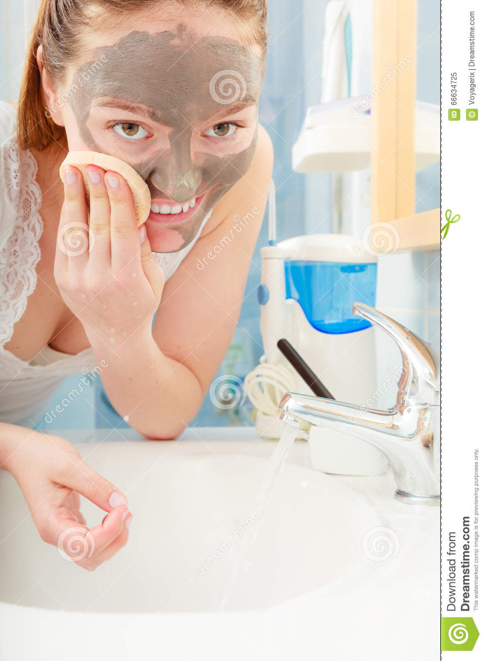 Woman Planet spa facial mud mask sexy pussy
