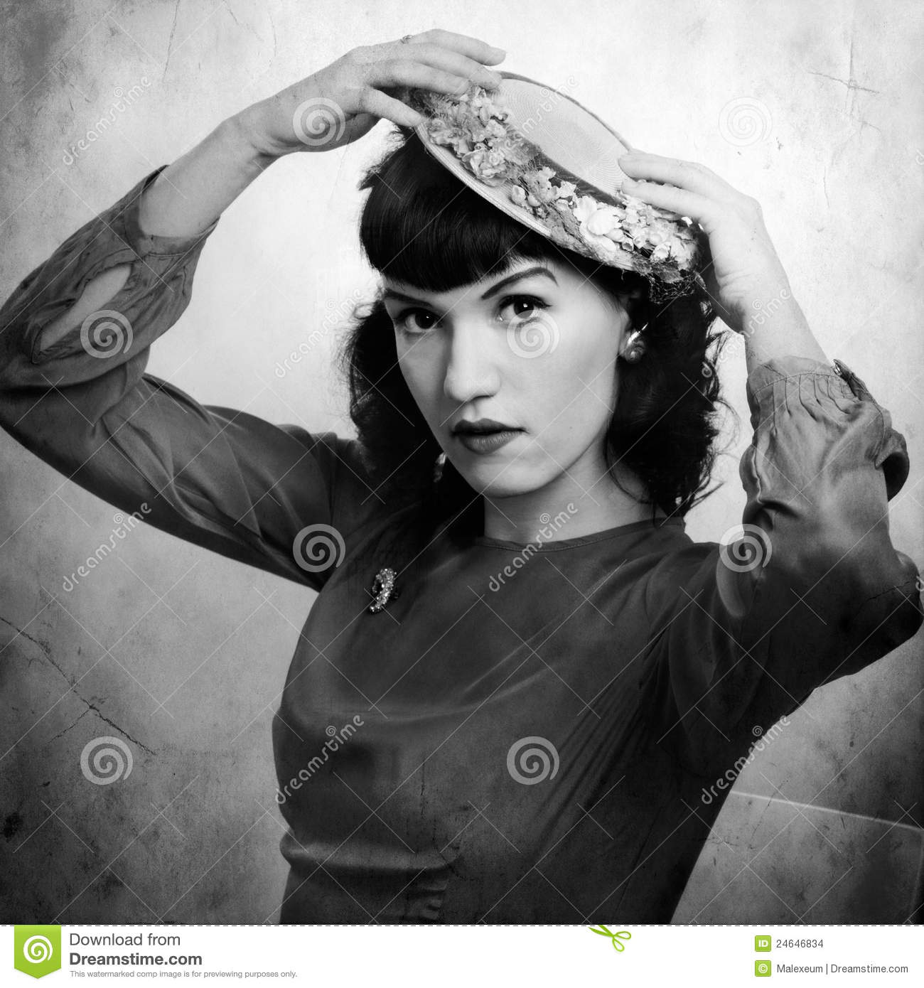 Woman Retro Portrait In 1920 Stock Photo Image Of Face 1920s