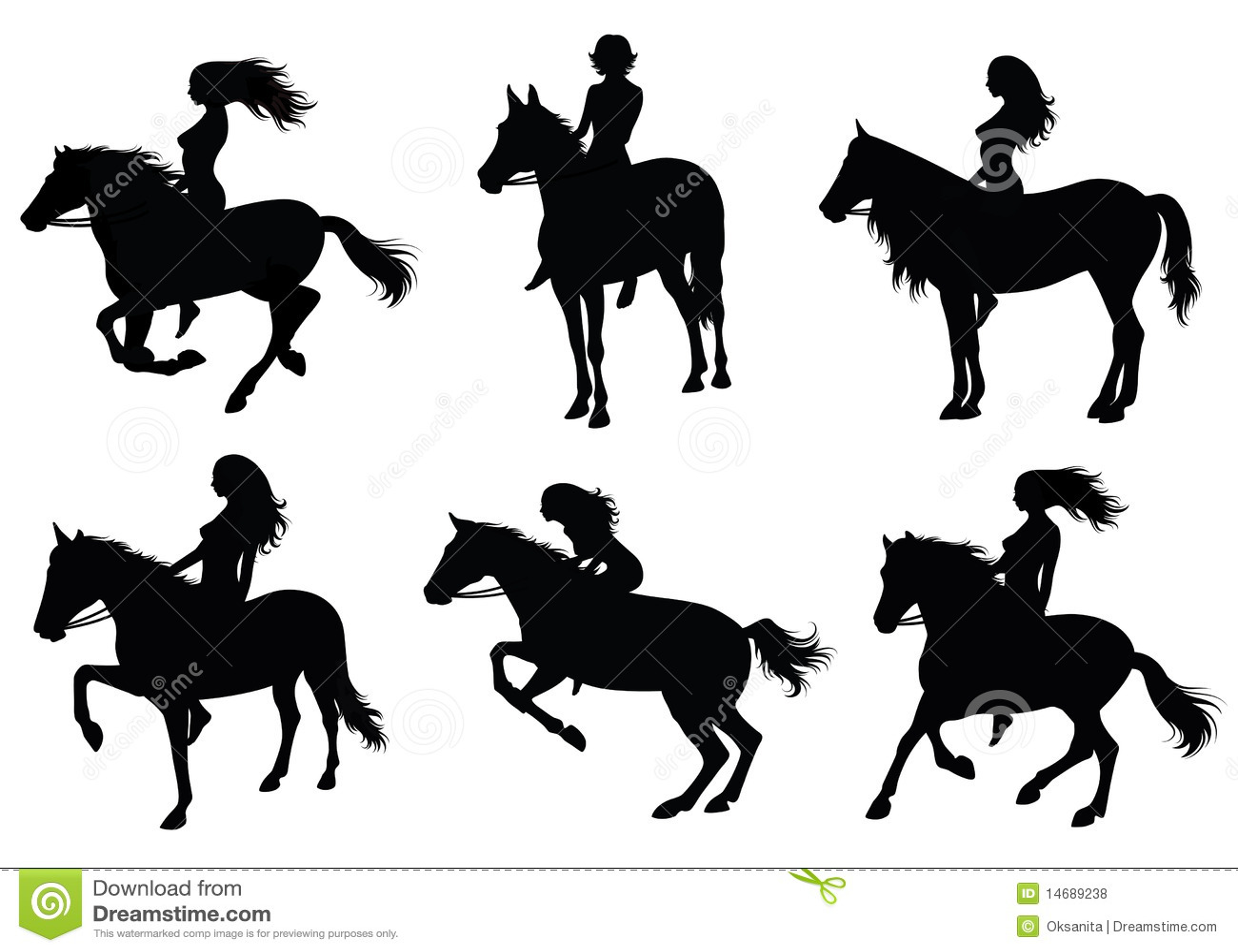 clip art girl riding horse - photo #44