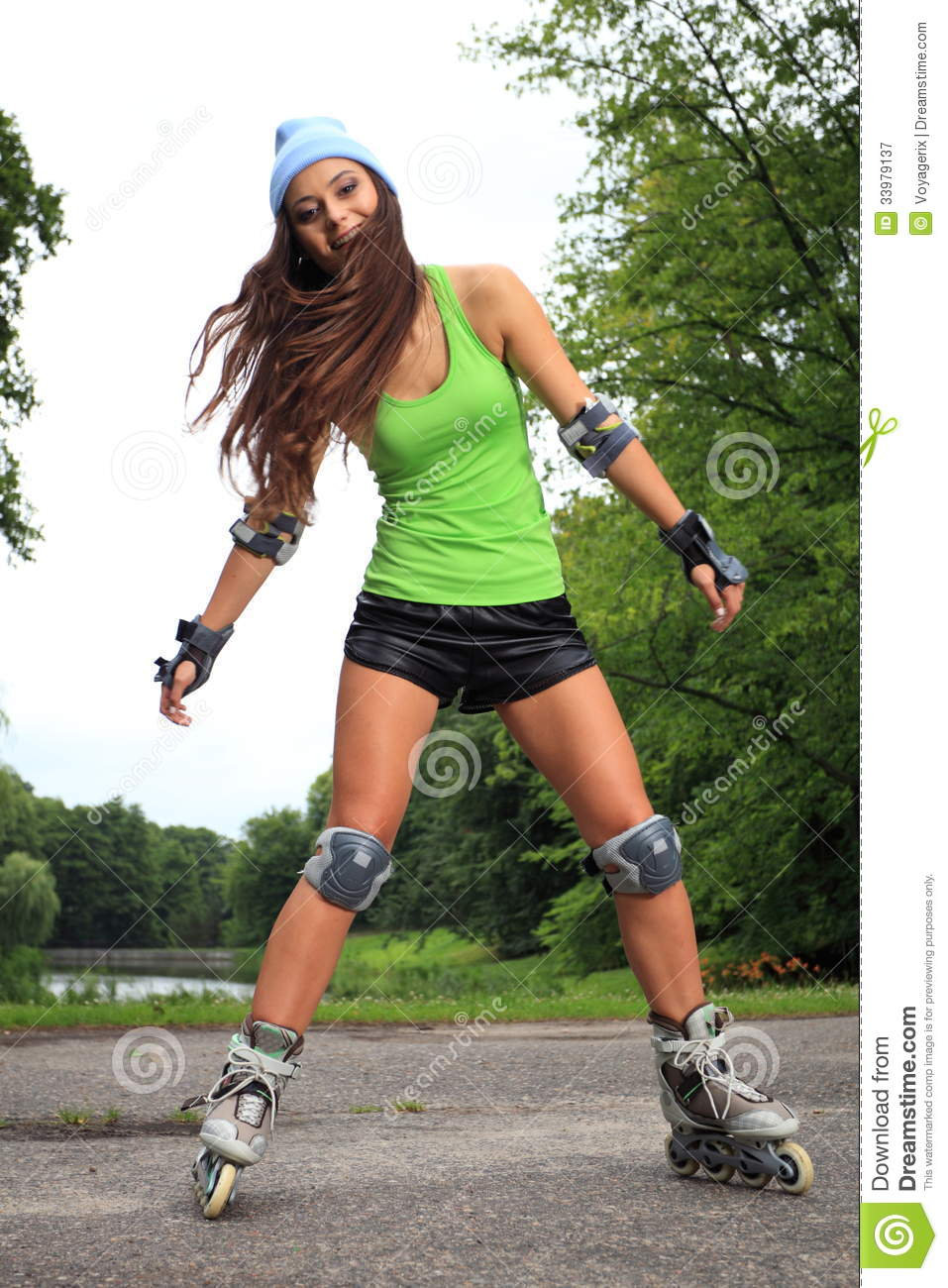 Active Young People - Rollerblading, Skateboarding Royalty