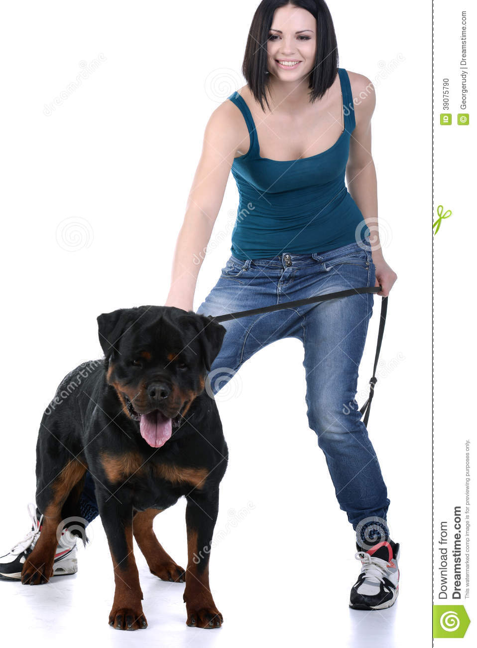 woman with a rottweiler dog stock photo image 39075790 rottweiler clip art free rottweiler clipart