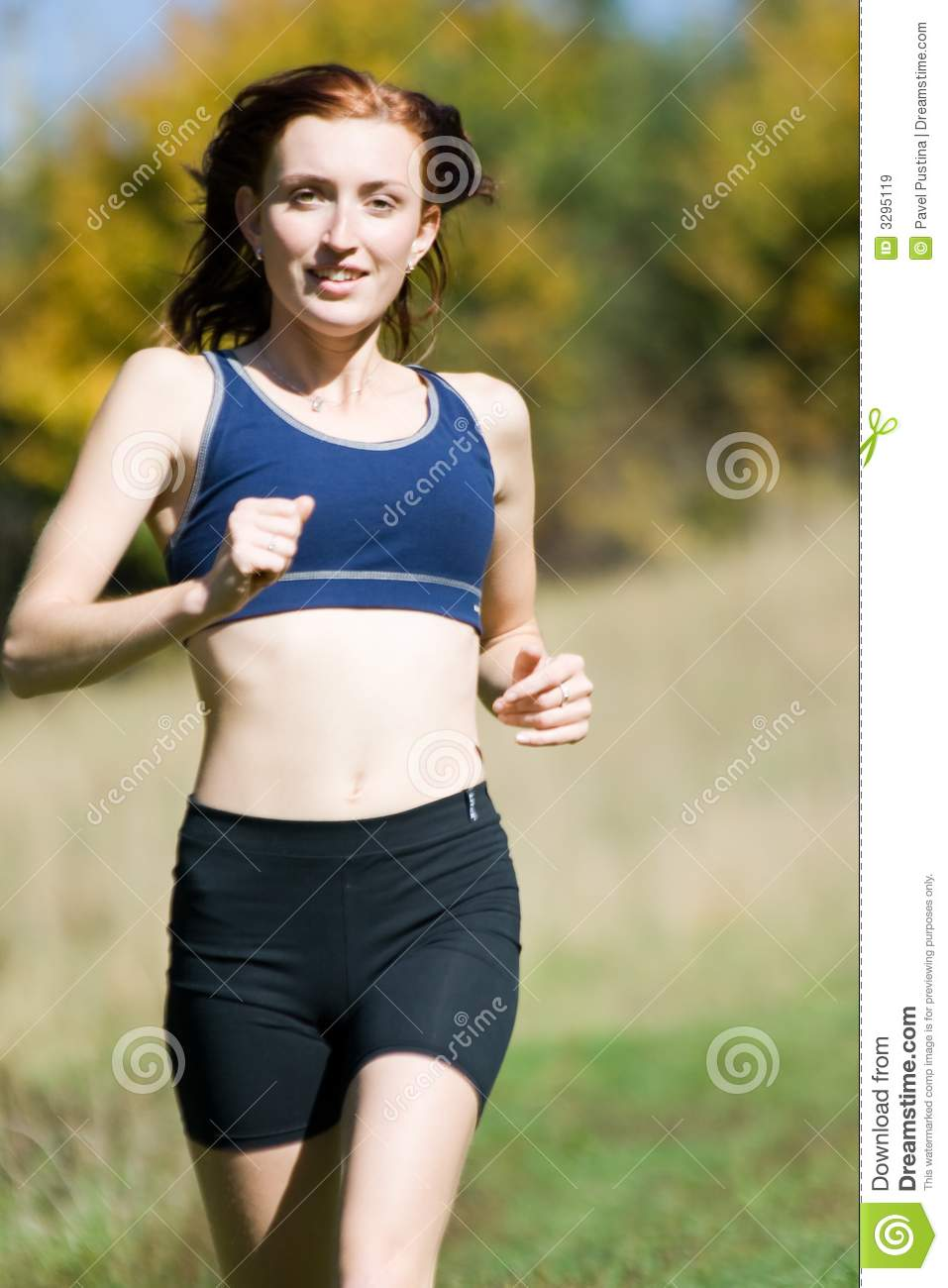 Woman and running
