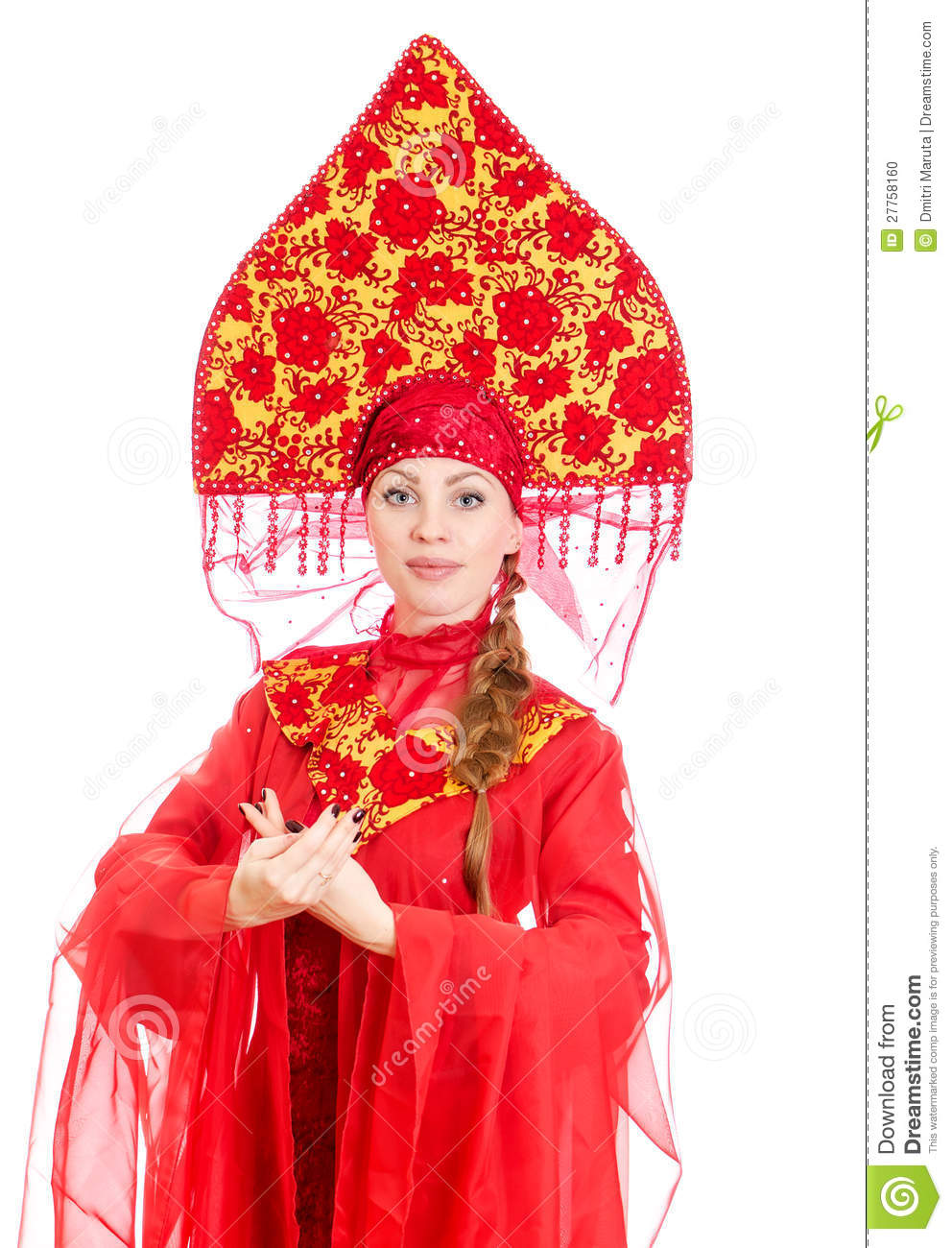 w in russian traditional clothes stock photo image  w in russian traditional clothes