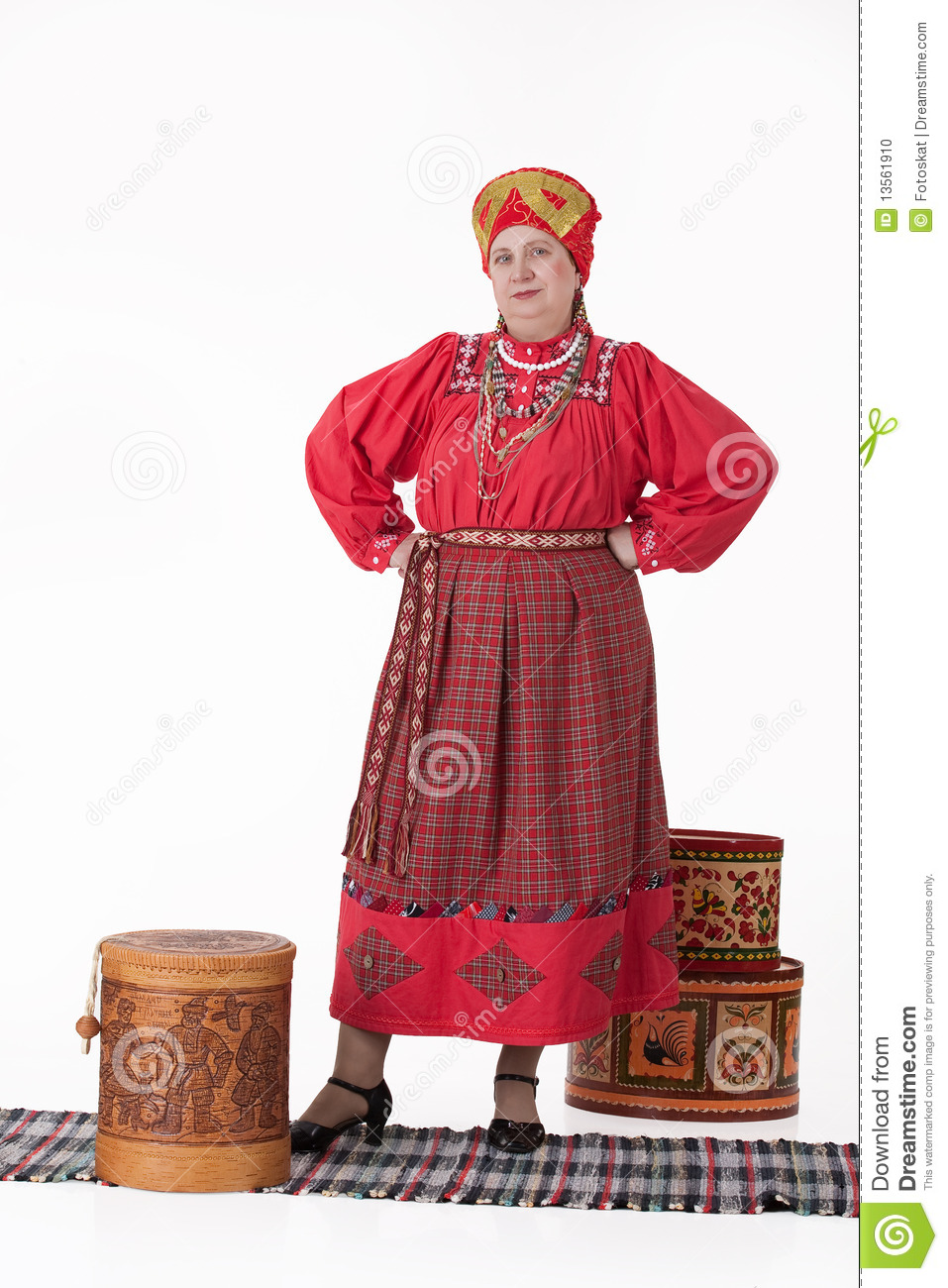 w in russian traditional clothing stock photo image  w in russian traditional clothing
