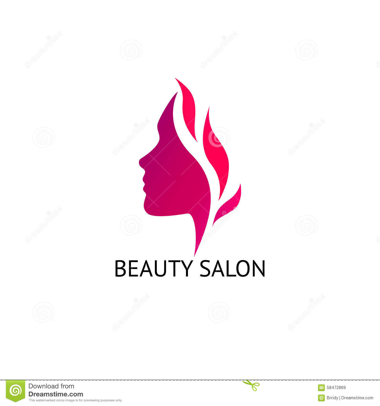... barber shops, massage, cosmetic and spa. Vector logo design template