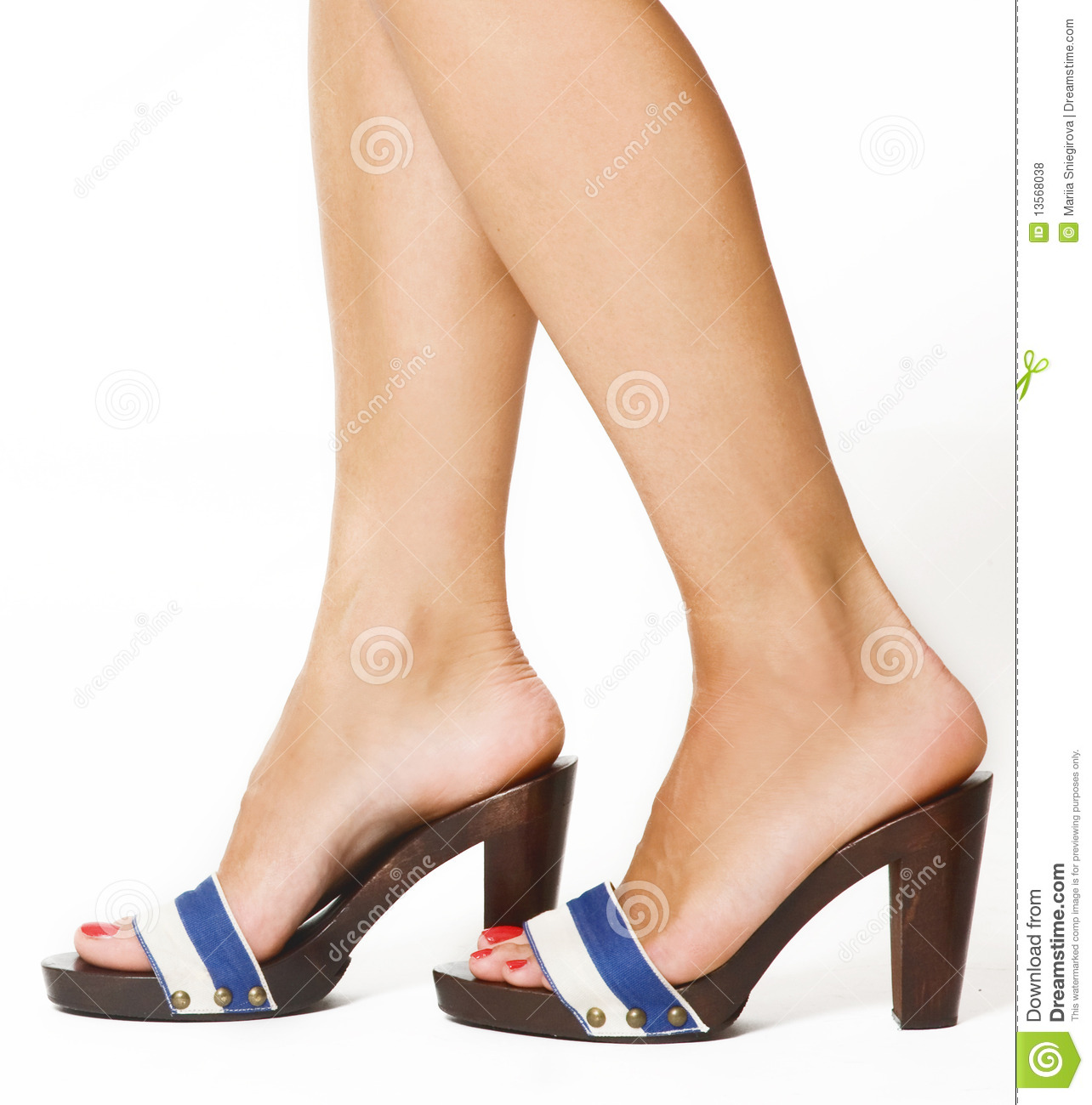 Woman's Feet Royalty Free Stock Photos - Image: 13568038