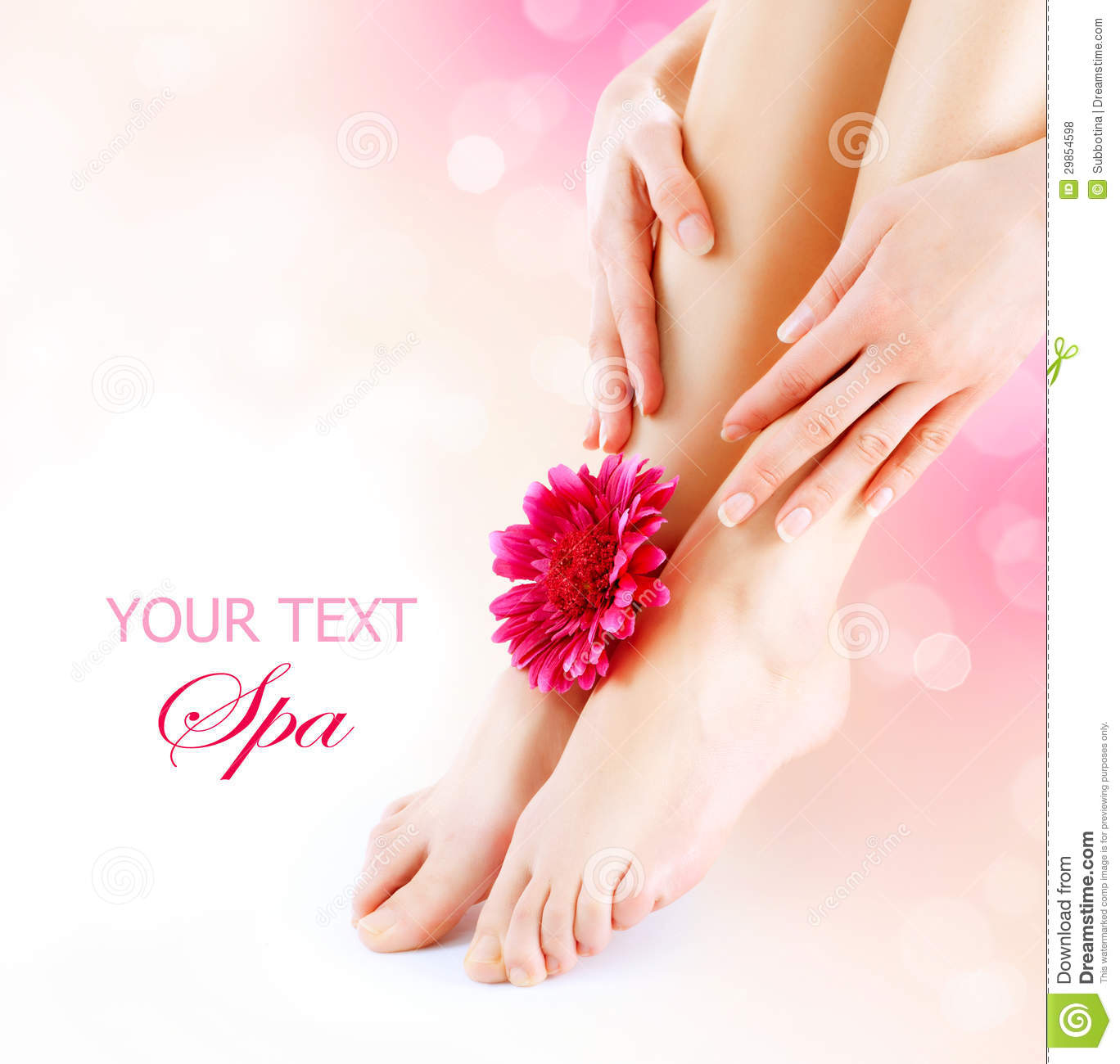 Free Manicure Beauty Hands Makeover: Womans Feet And Hands Stock Photo. Image Of Lady, Bare
