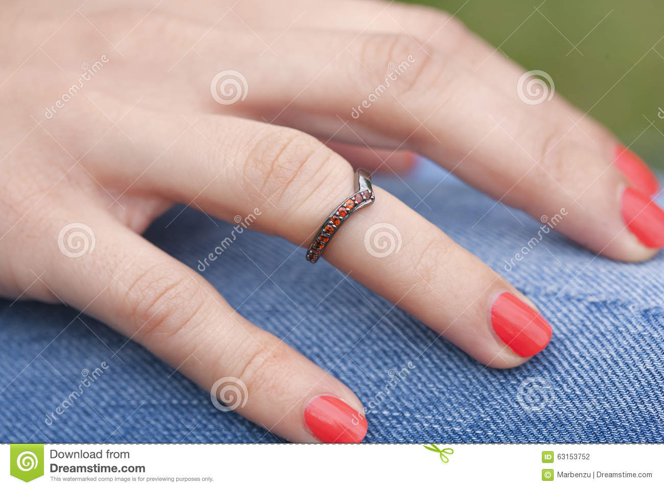 Woman\'s Hand With Beautiful Ring Stock Photo - Image of nomad, metal ...