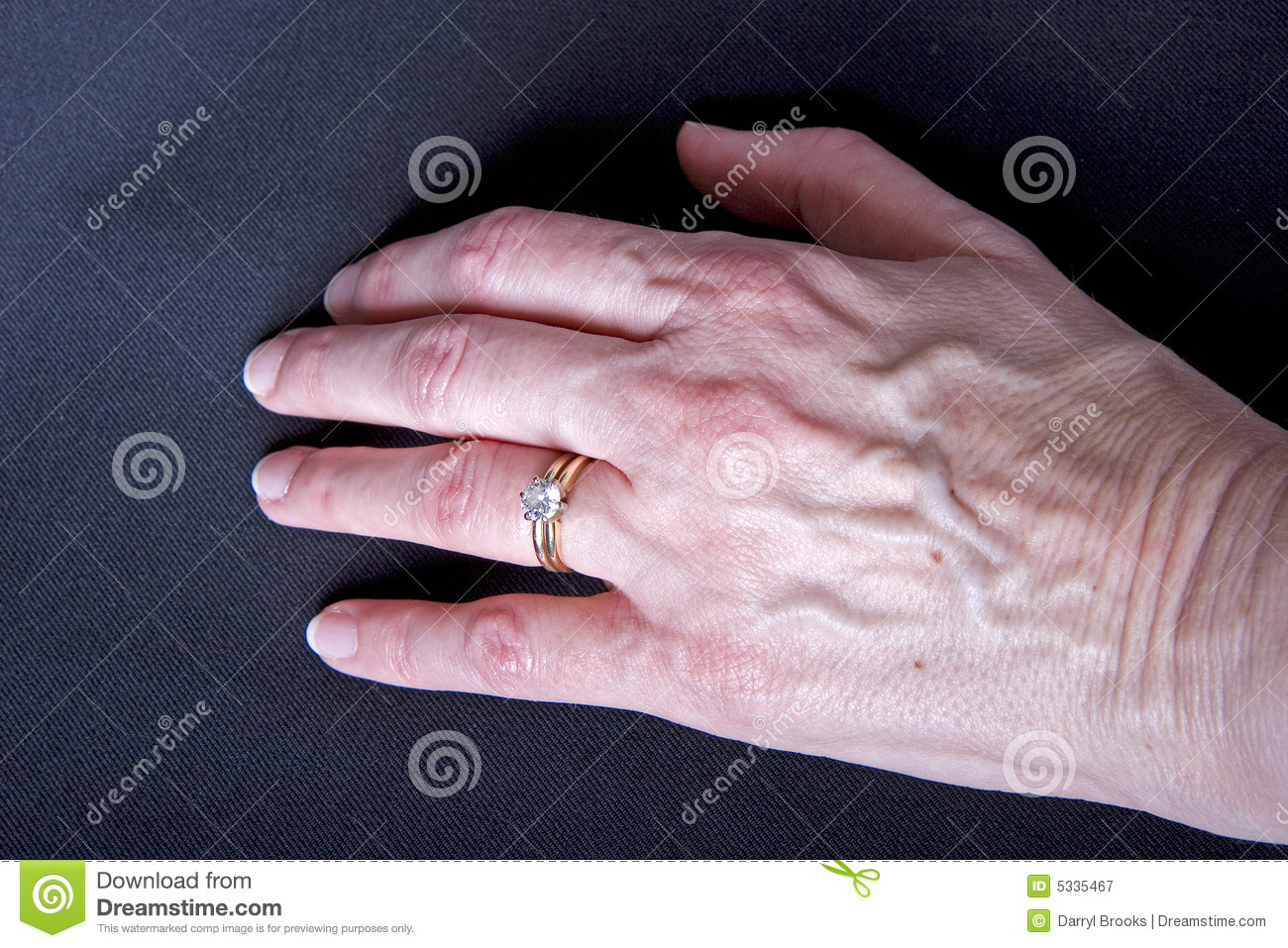 Woman\'s Hand With Diamond Ring Stock Image - Image of shiny, setting ...