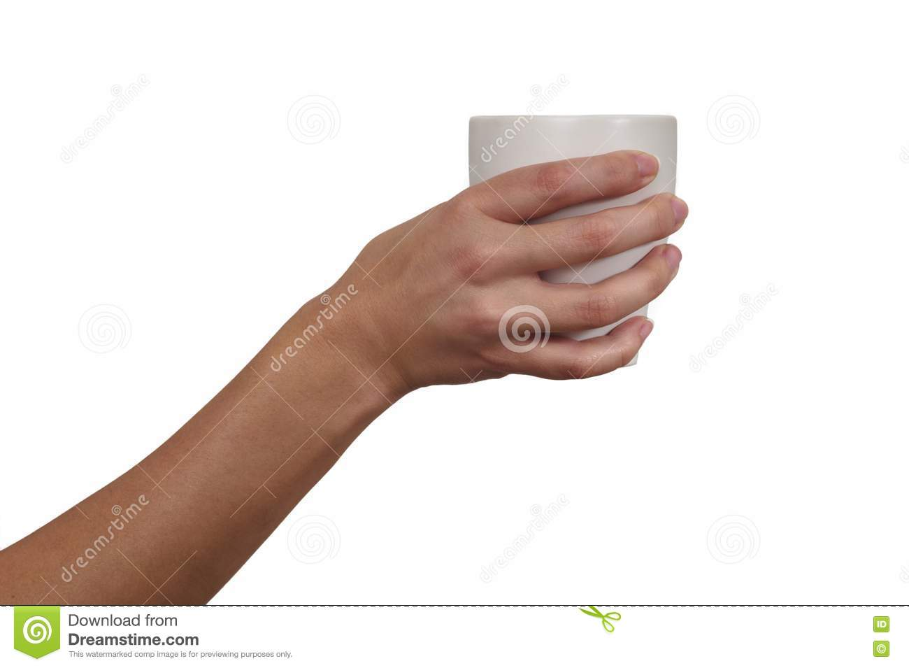 Woman 39 S Hand Holding A Cup Royalty Free Stock Photography