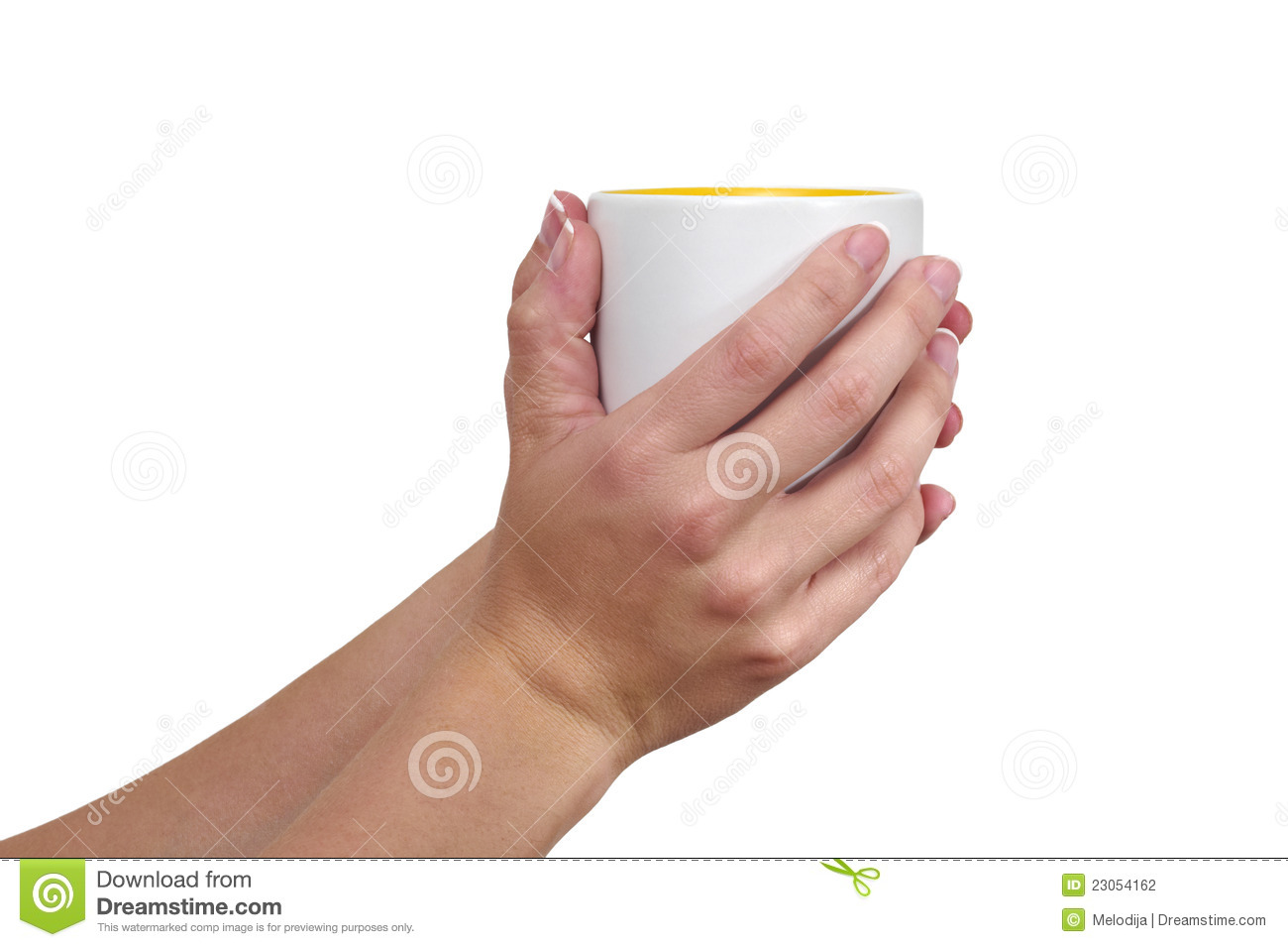Woman 39 S Hand Holding A Cup Stock Photo Image Of