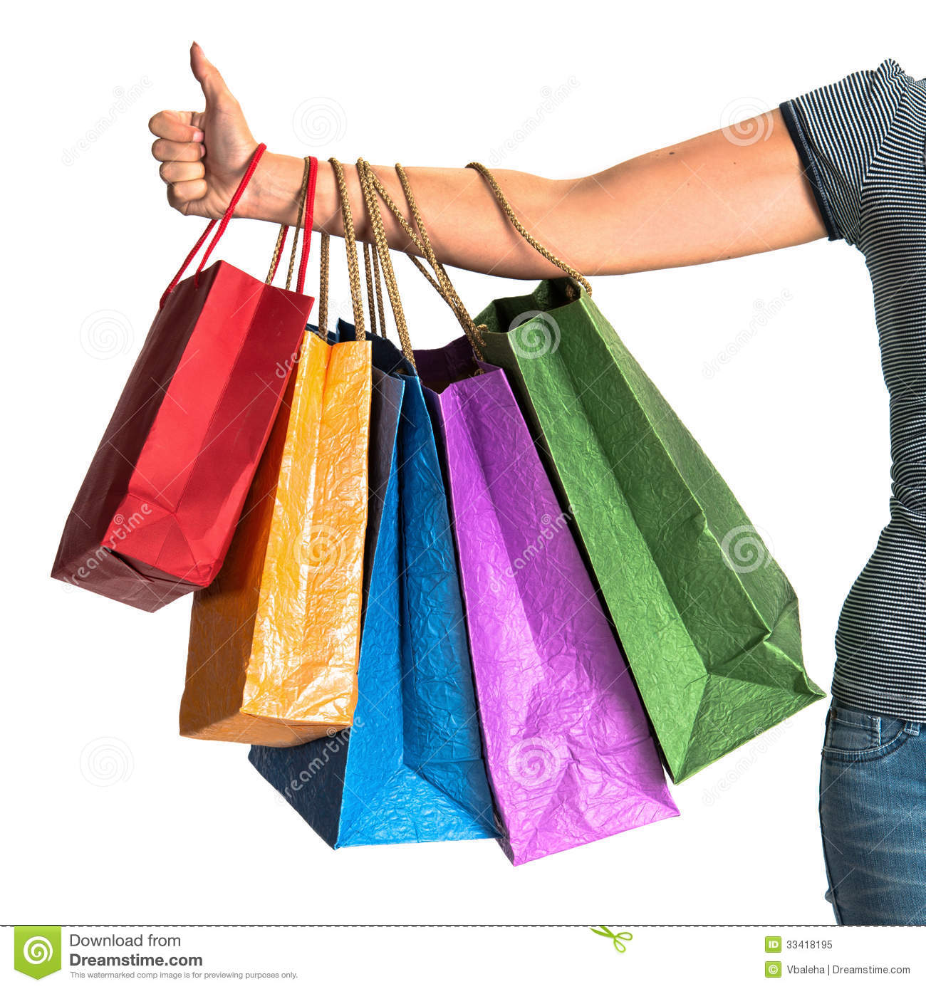 Brilliant Mature Female Shopper Carrying Shopping Bags . Stock Image - Image 31850881