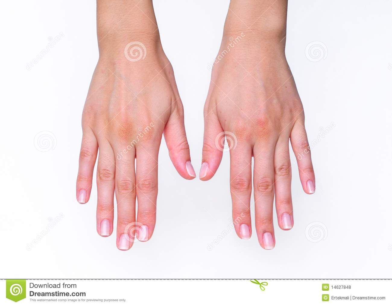 Woman's Hands Facing Down Royalty Free Stock Photos - Image: 14627848