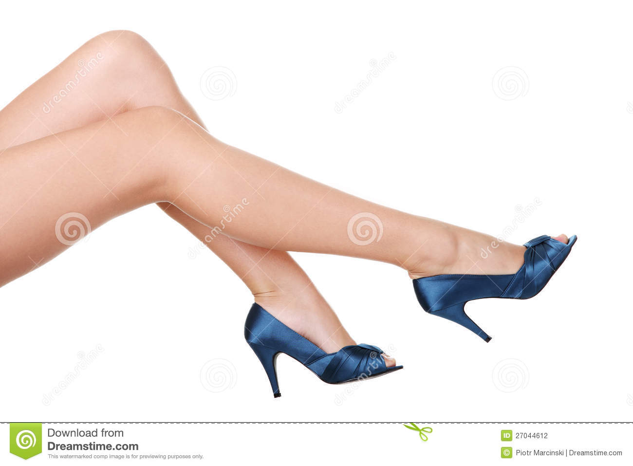 s leg and high heel shoes stock photography image