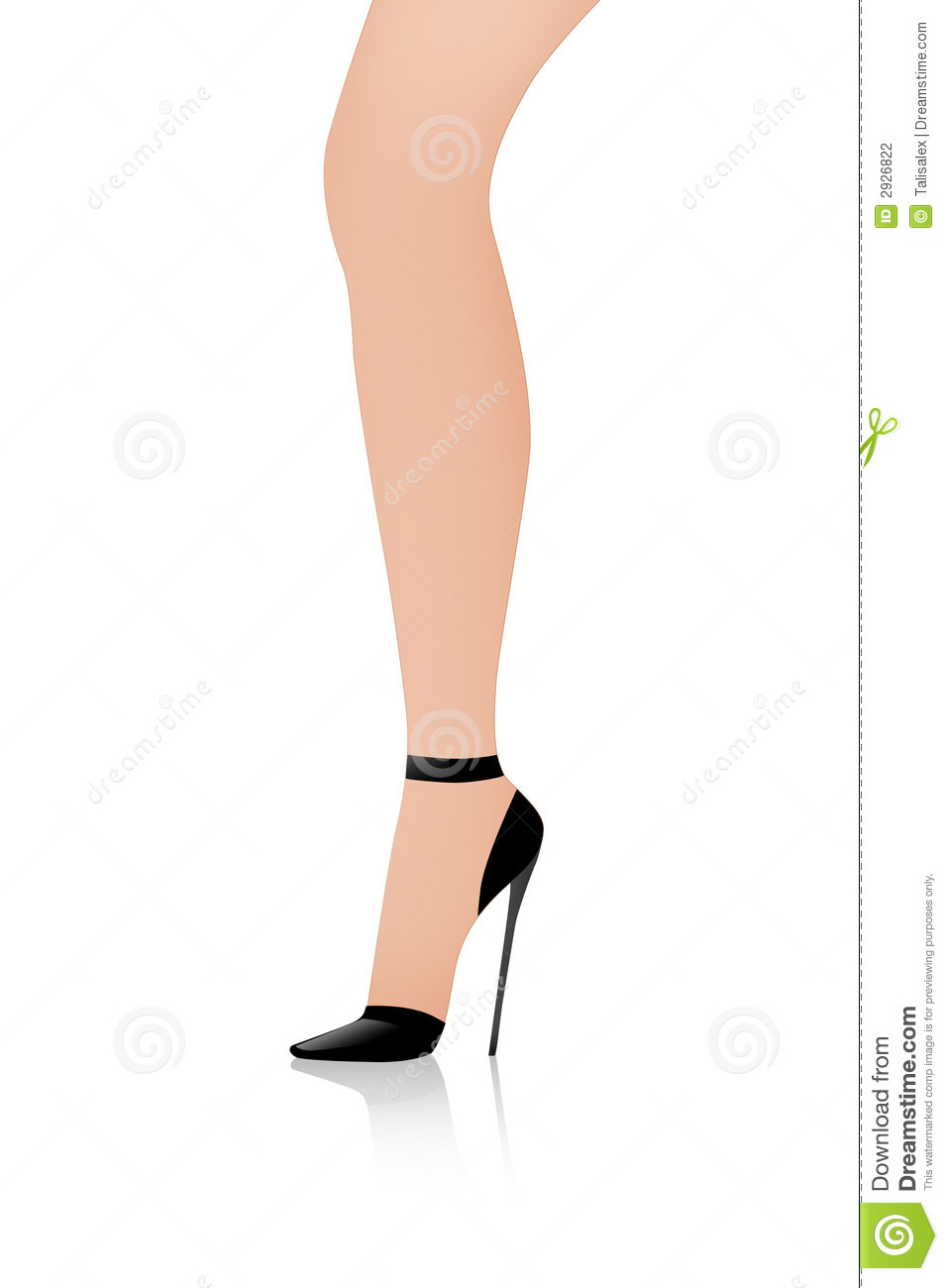 Cartoon Picture Of A Woman S Legs And Shoes